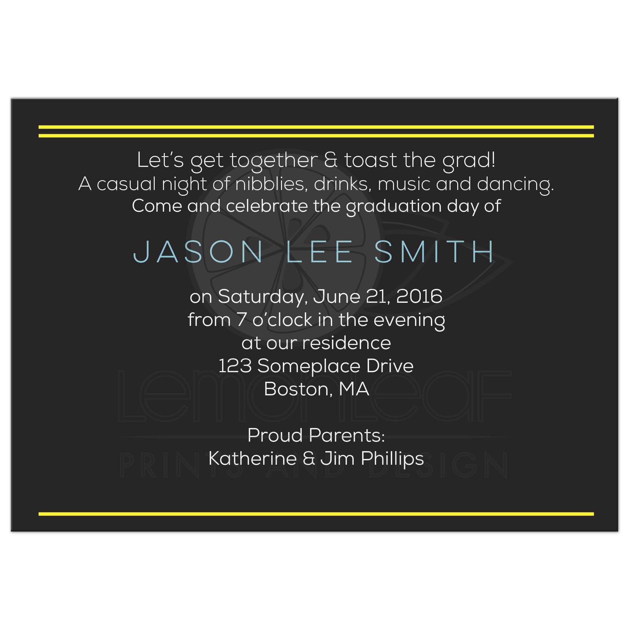 Tech Graduation Invitation