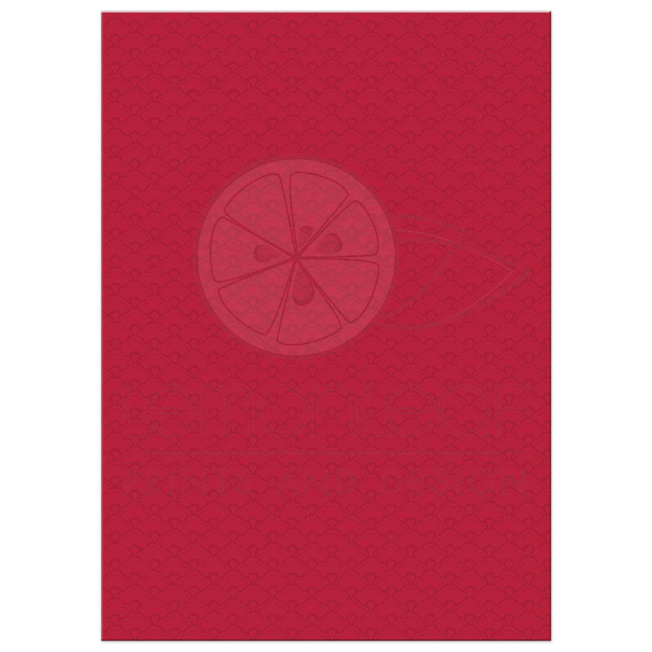 ... Red Gold Double Happiness Cherry Blossom Chinese Wedding Invitation  Back ...