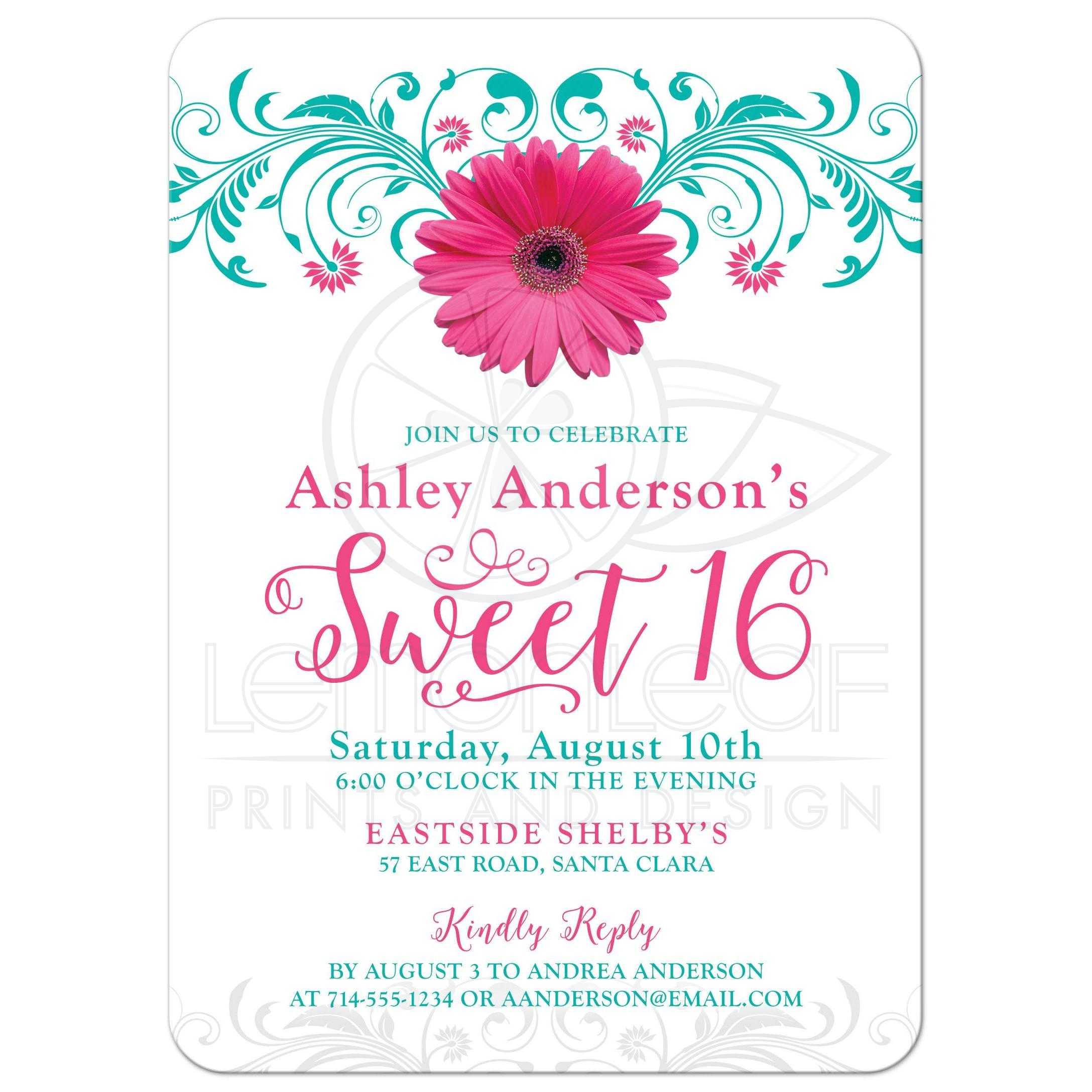 Sweet 16 Birthday Invitation – Sweet 16 Birthday Invites