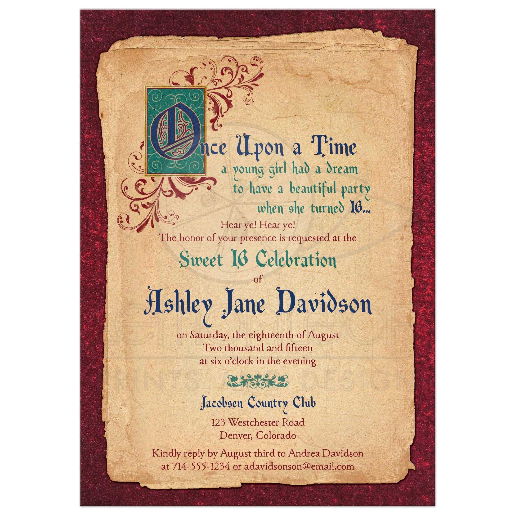 Fairy Tale Invitation with amazing invitations sample