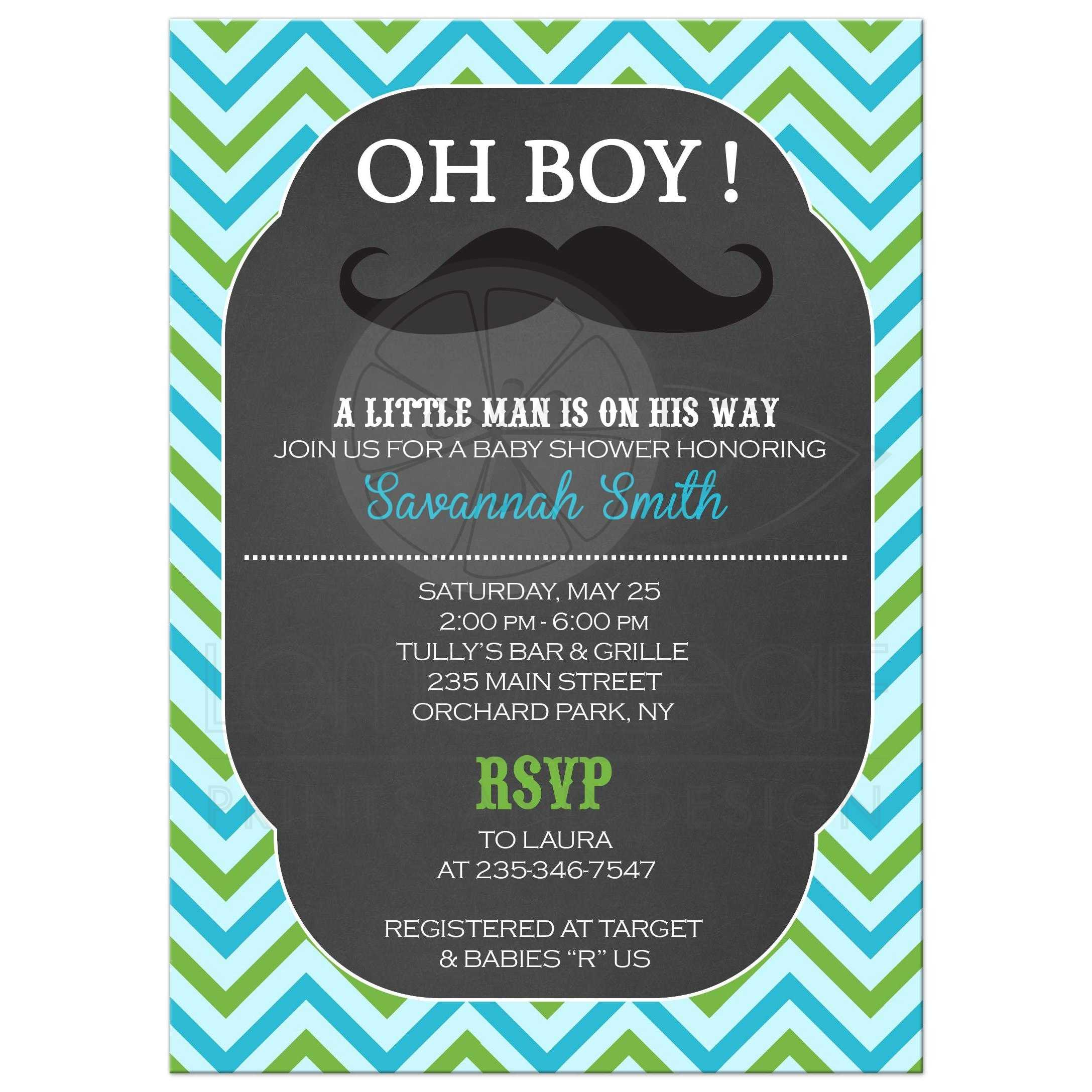 Chalkboard Baby Shower Invitations – gangcraft.net