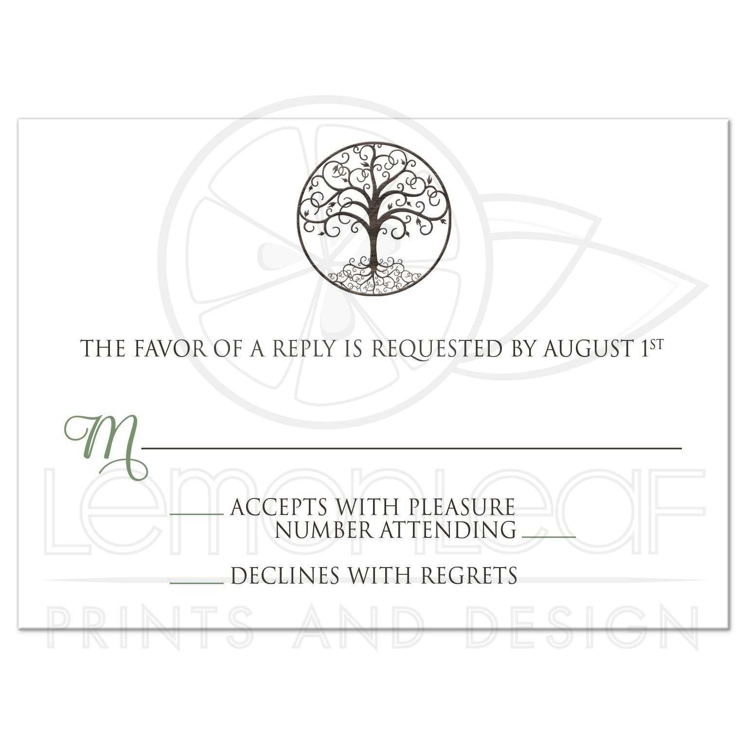 Tree Of Life Invitation Rsvp Celtic Life By: Tree Of Life Circle
