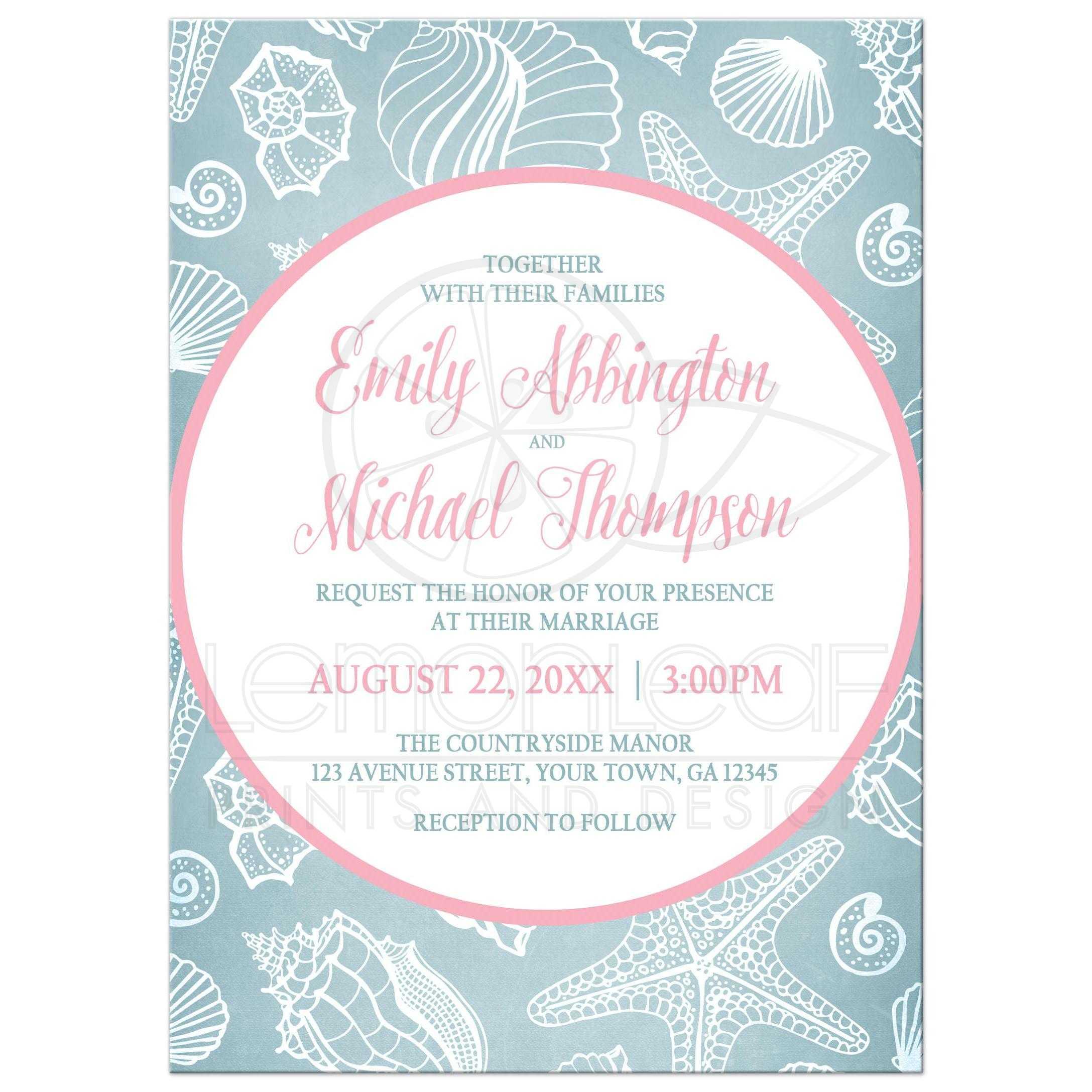 sea shell wedding invitations
