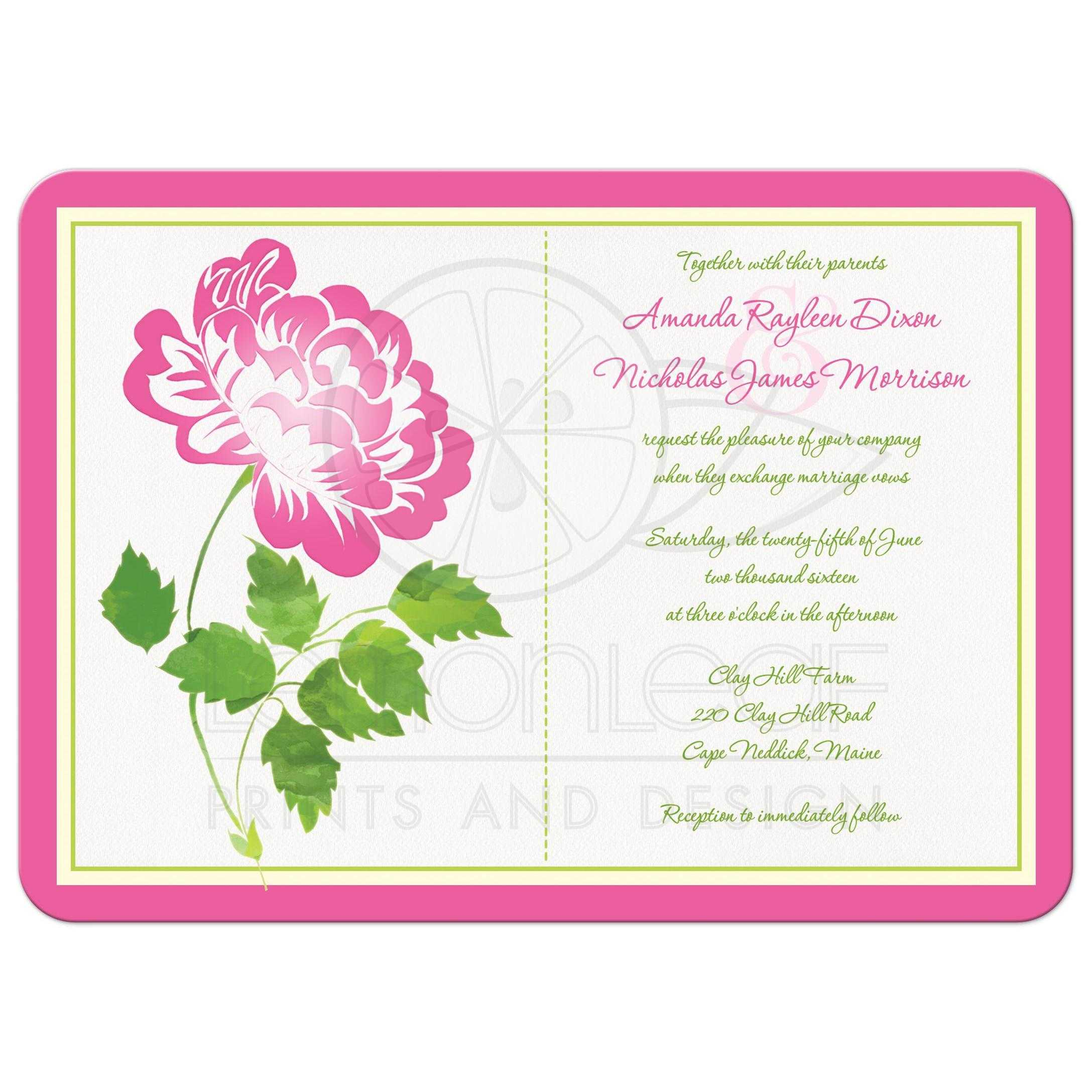 Pink, Green, Ivory And White Floral