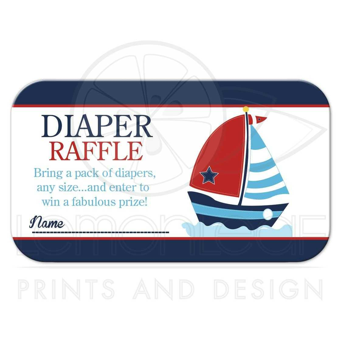 ... Anchor And Sailboat Diaper Raffle Baby Shower Cards