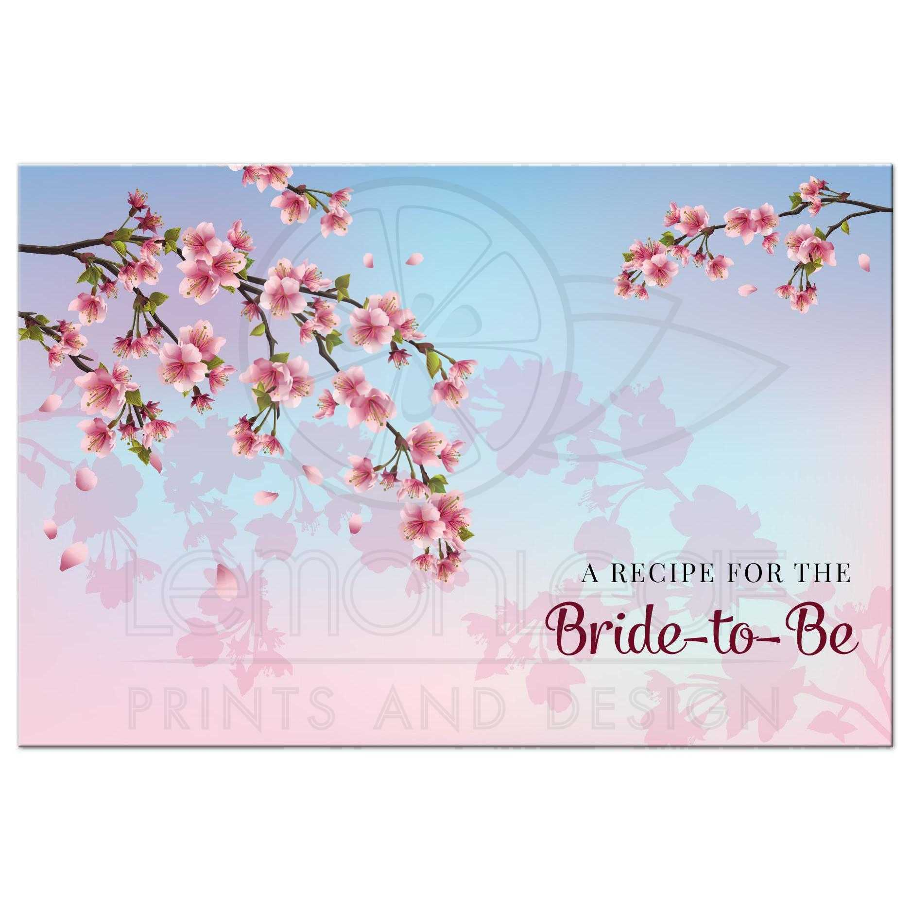 Wedding Gift Recipe Cards : Home / Gifts / Recipe Cards / Recipe Card - Cherry Blossom Ombre ...