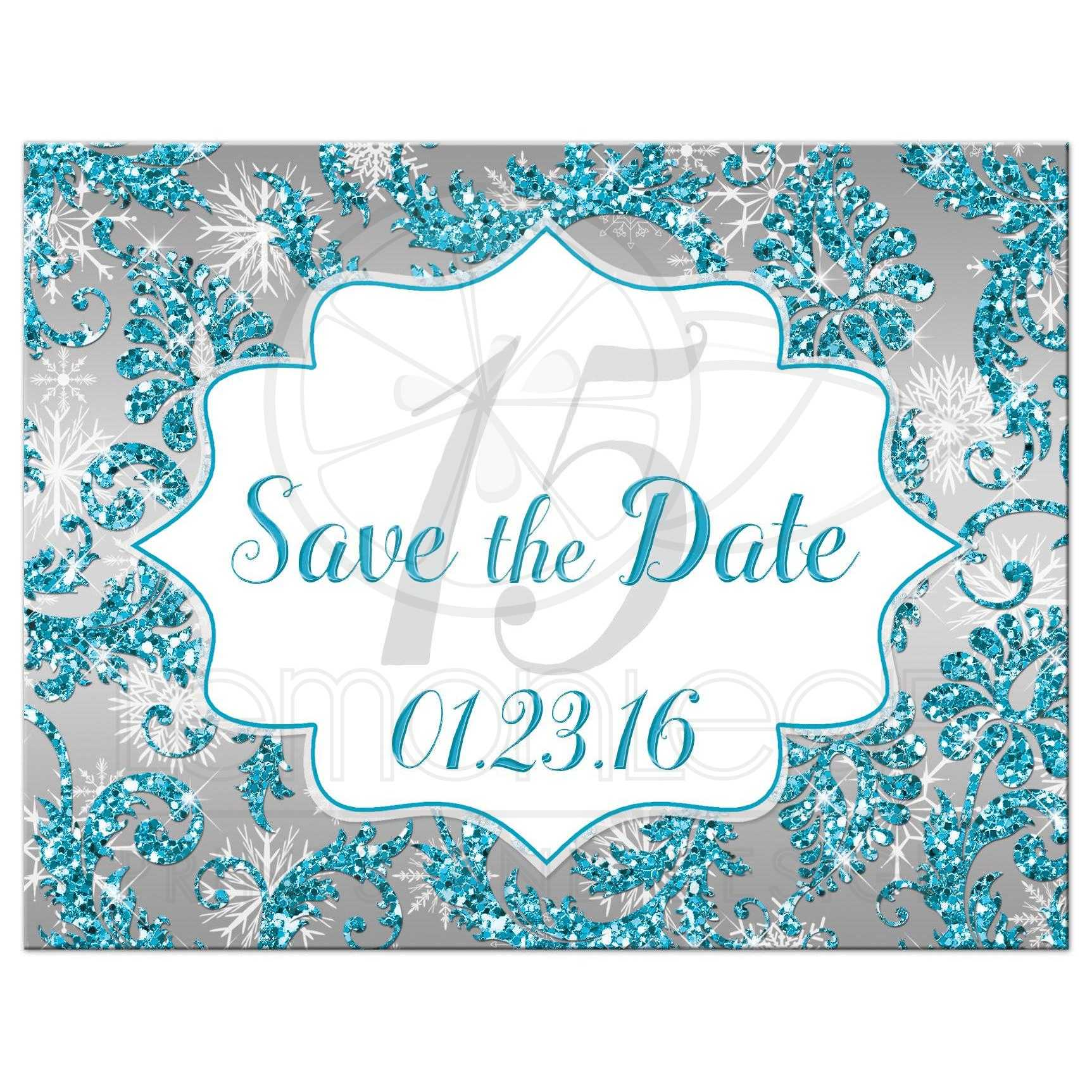 Quincea 241 Era Save The Date Card Winter Wonderland