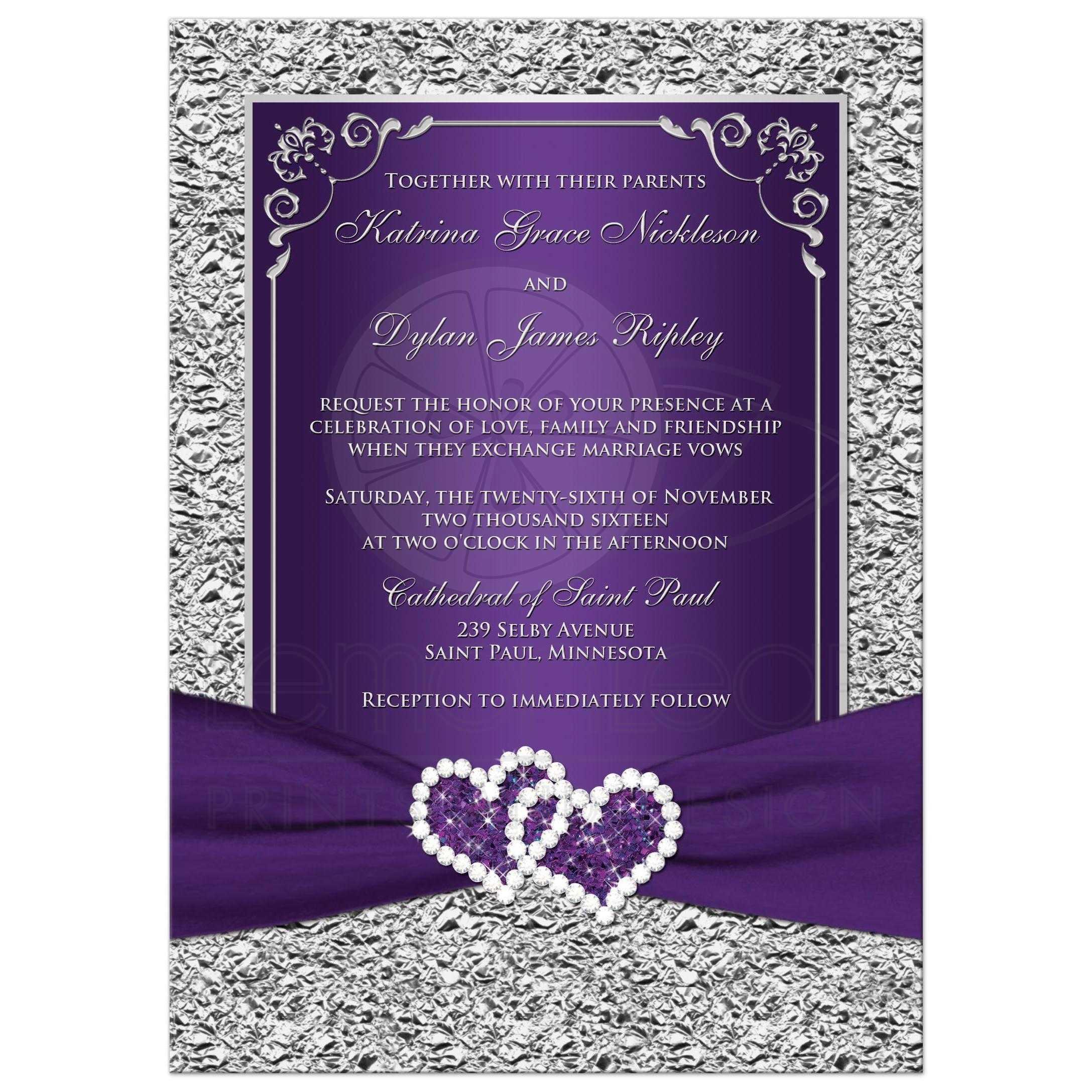 Purple Hearts Wedding PHOTO Wedding I...