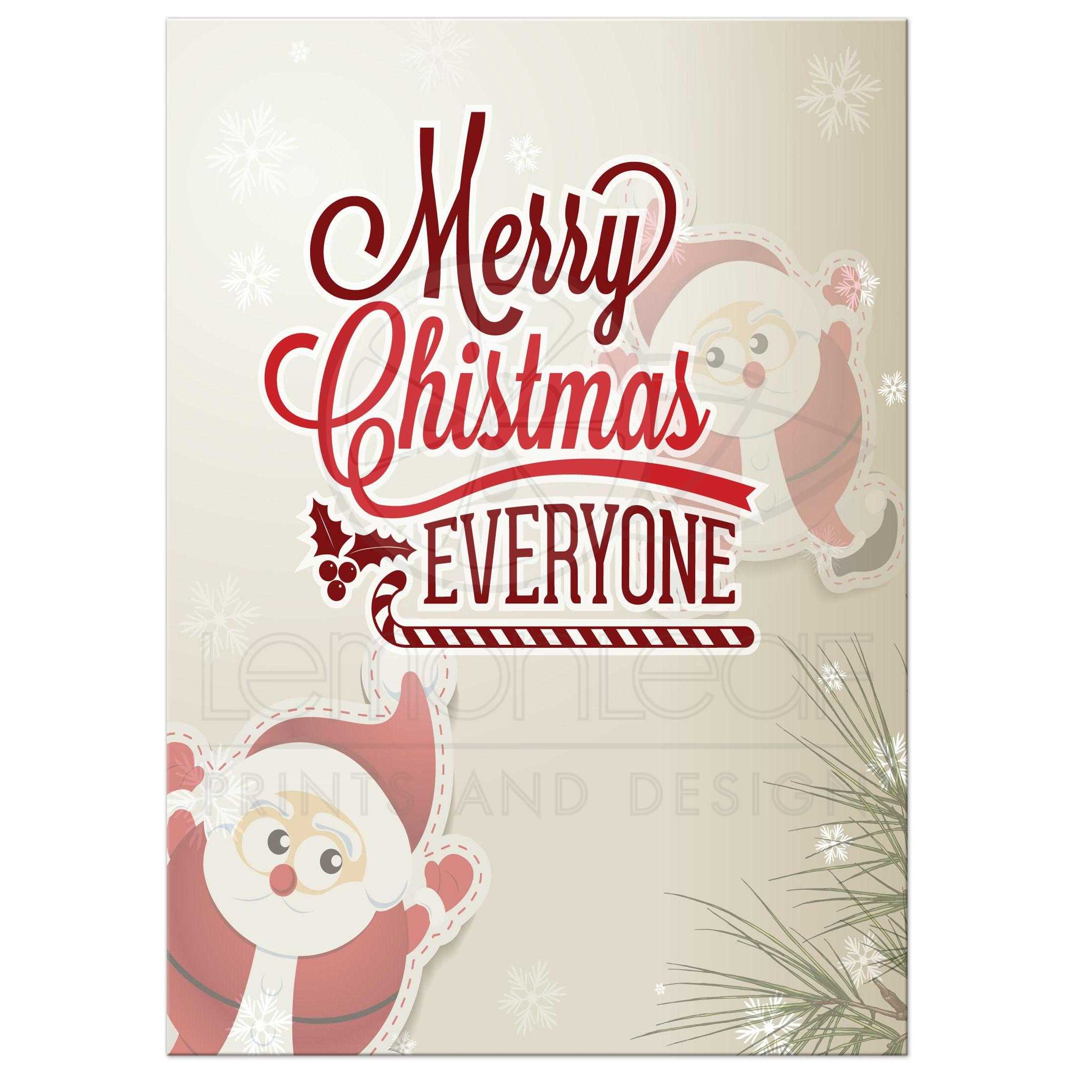 Whimsical Holiday Santa Photo Template Greeting Card