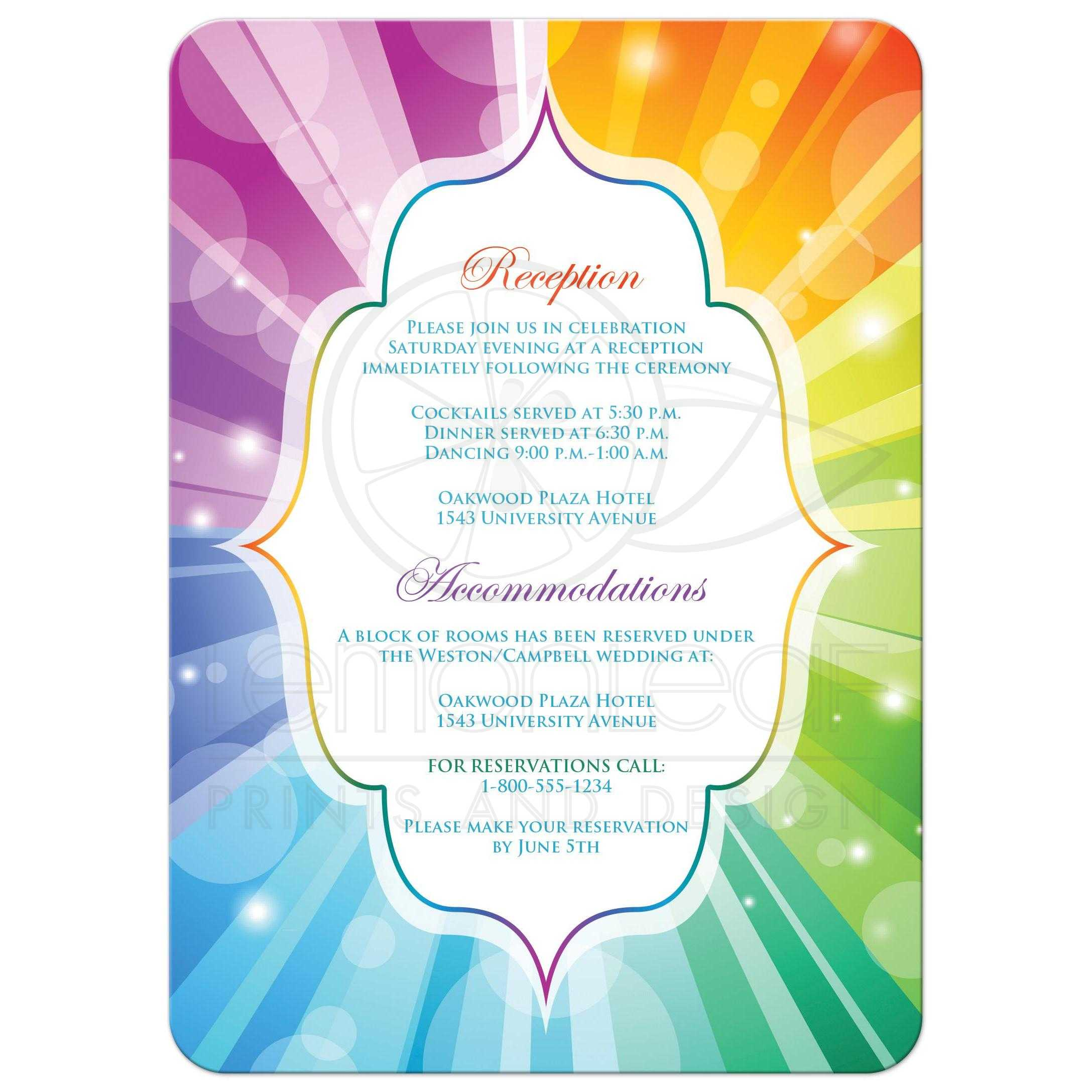 great same sex wedding invites with rainbow stripes and heart - Rainbow Wedding Invitations