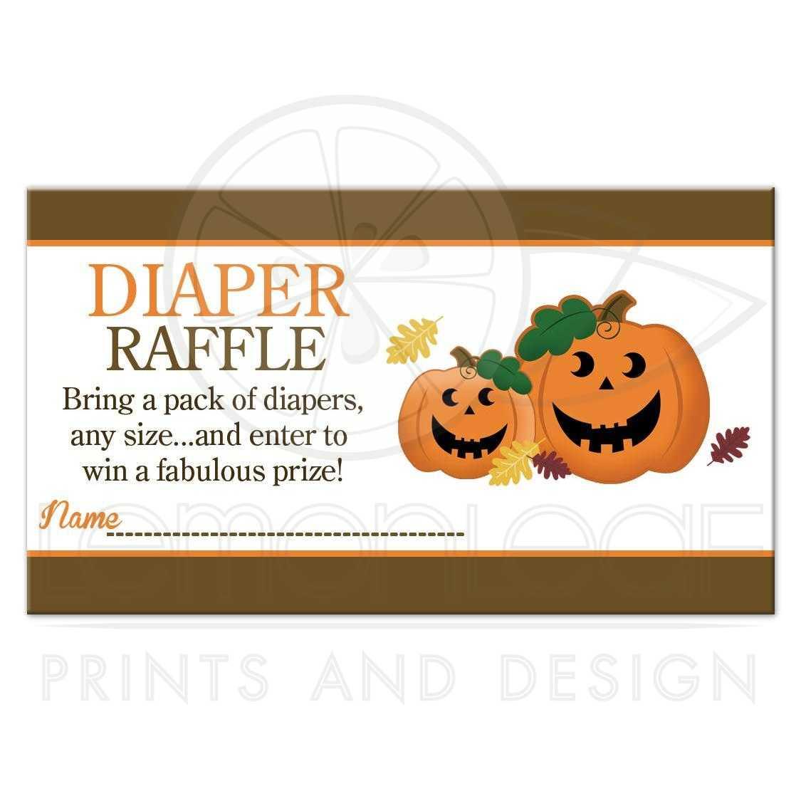 halloween jack o lantern pumpkins baby shower diaper raffle