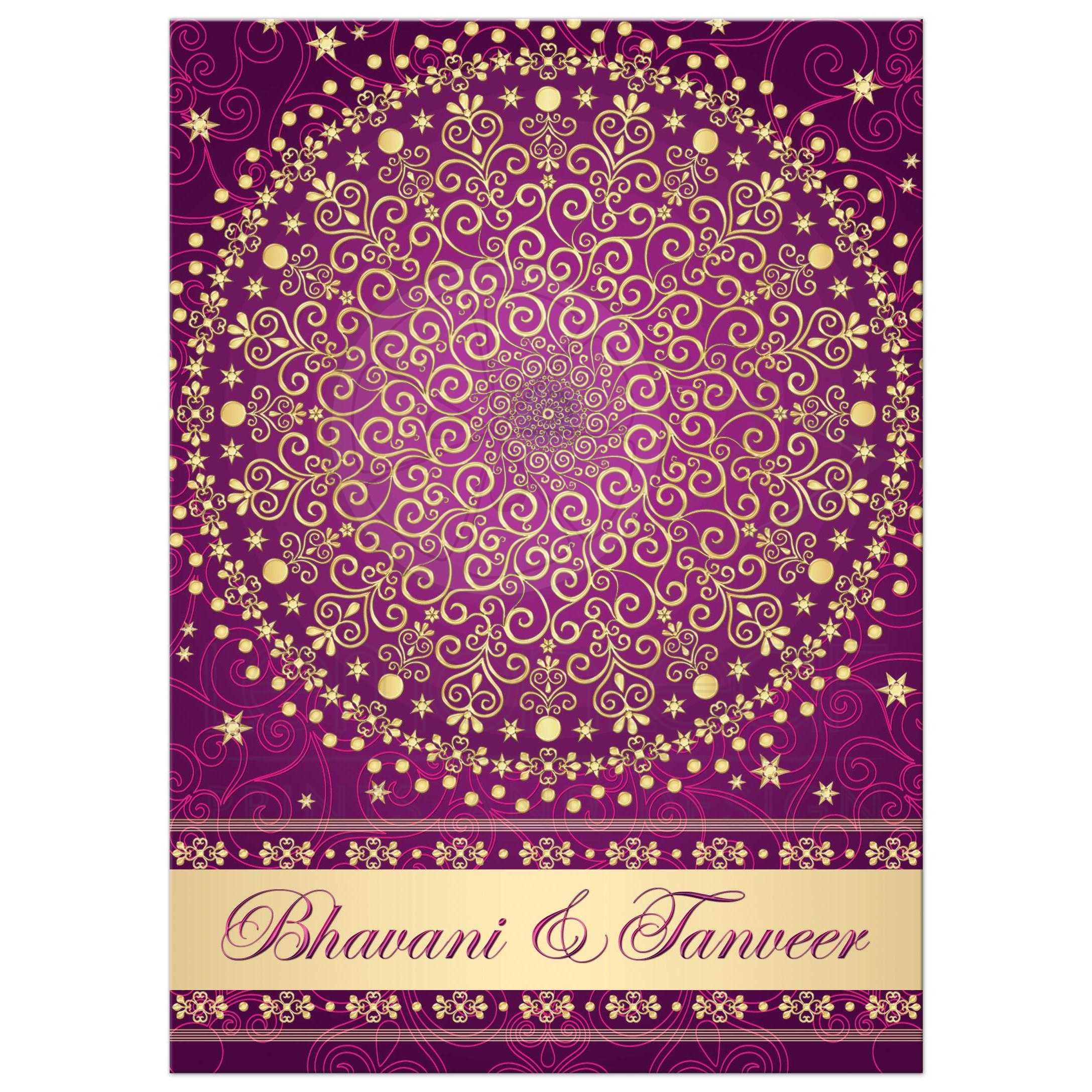 Circle Of Love Purple, Fuchsia, Gold