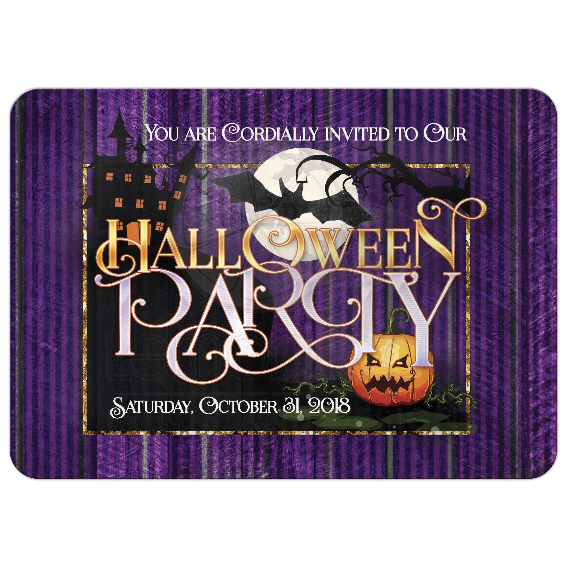 Wicked Purple Halloween Party Invitation