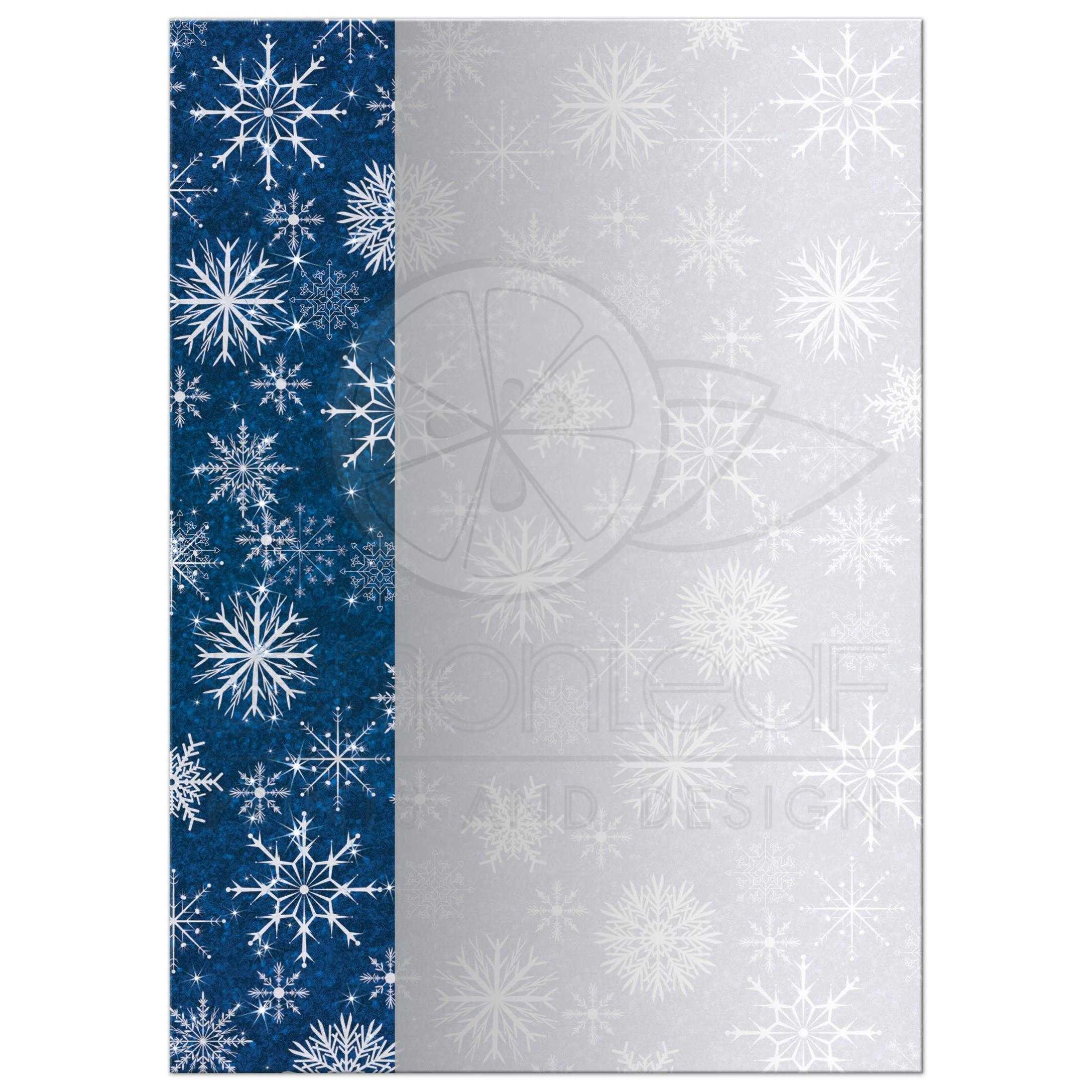 Great Royal Blue And Silver Grey Snowflakes Hanukkah Party Invite With Star Of David