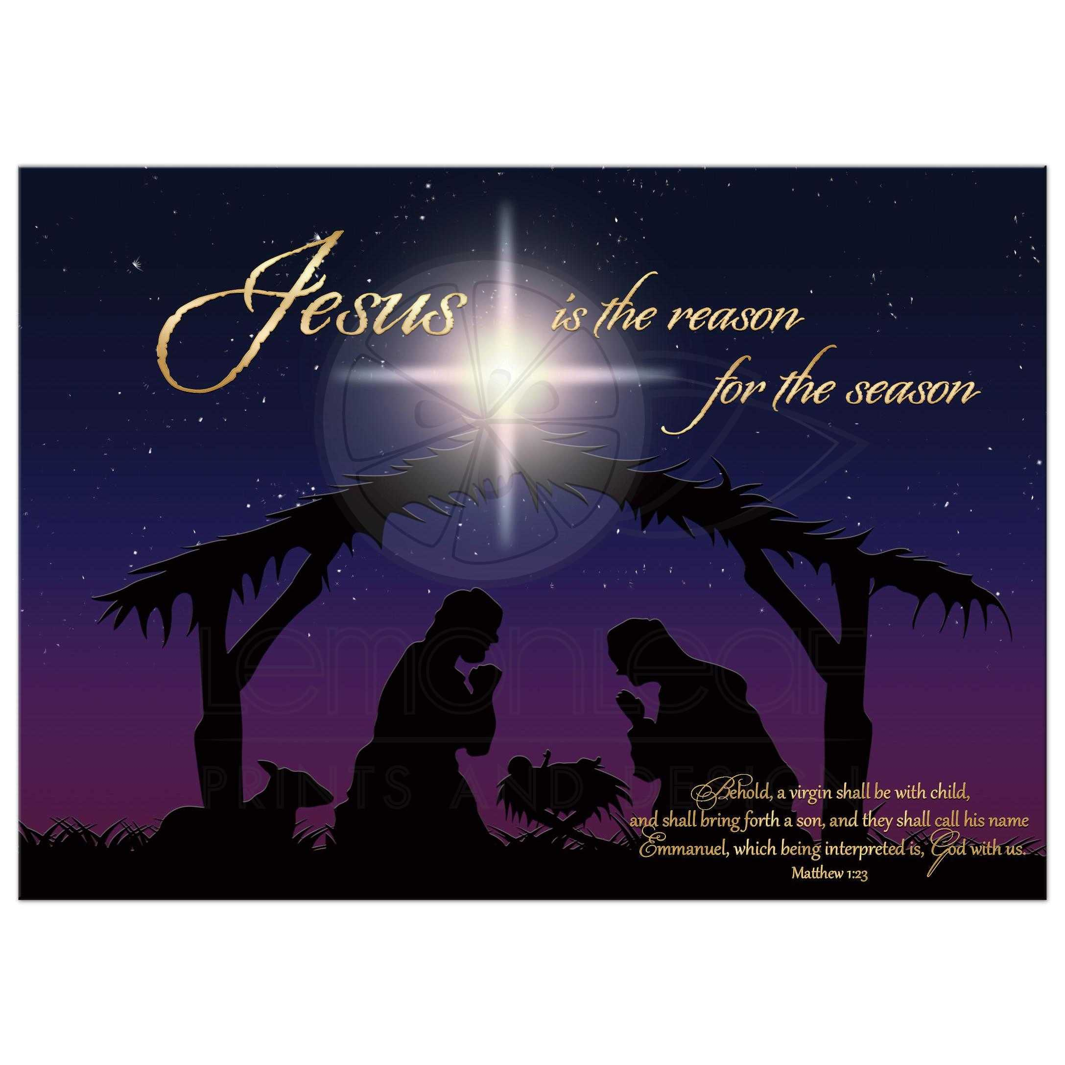 5x7 flat nativity christmas card photo template jesus is the