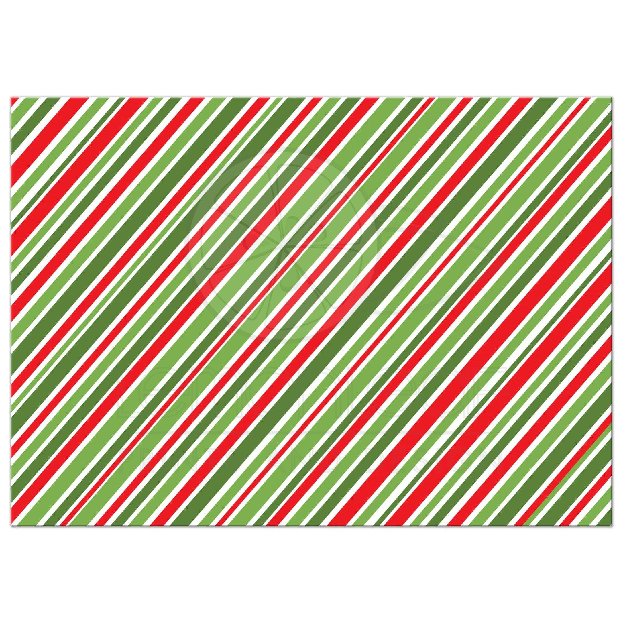 Happy Holiday Card With Red And Green Striped Border