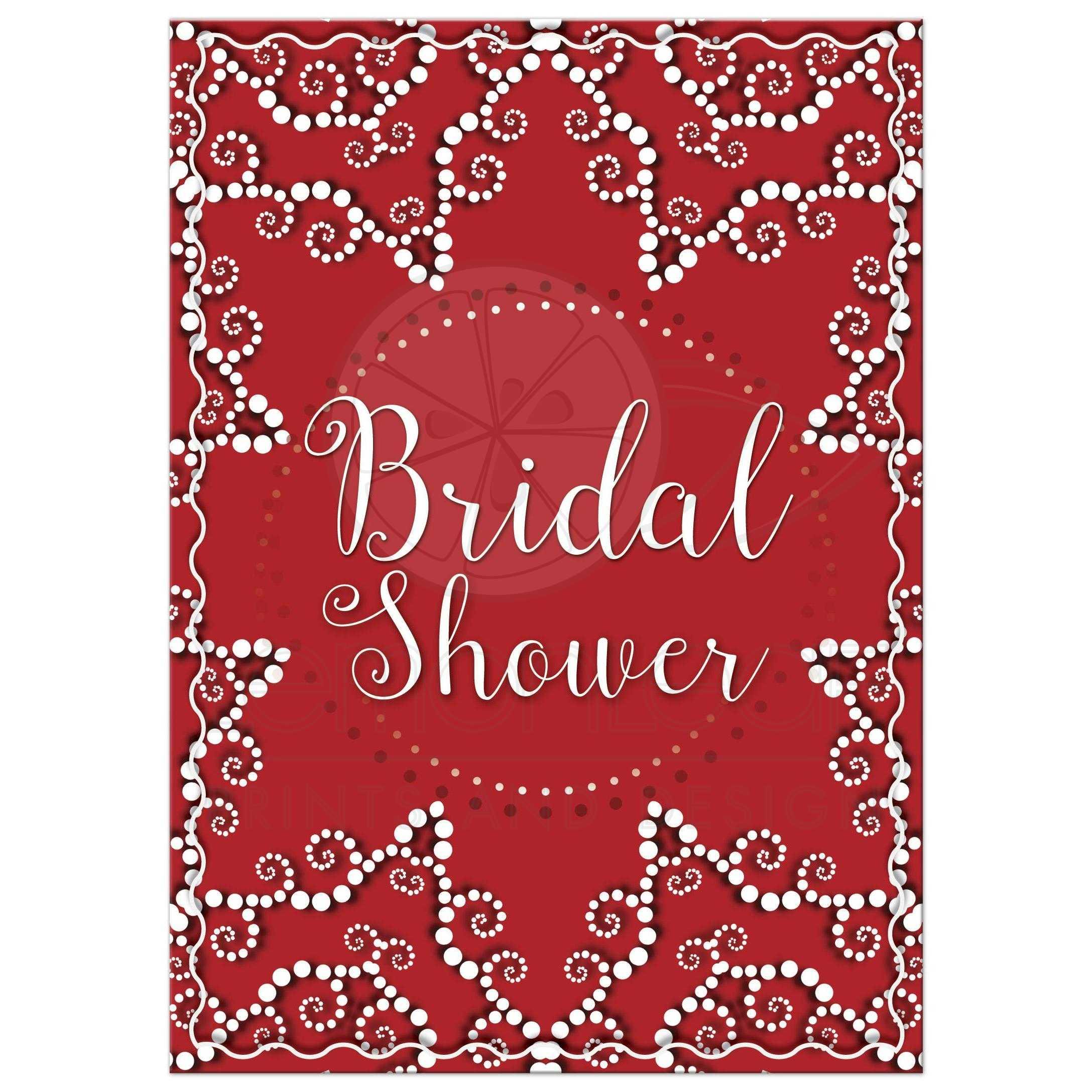 Red Moroccan Bridal Shower Invitation