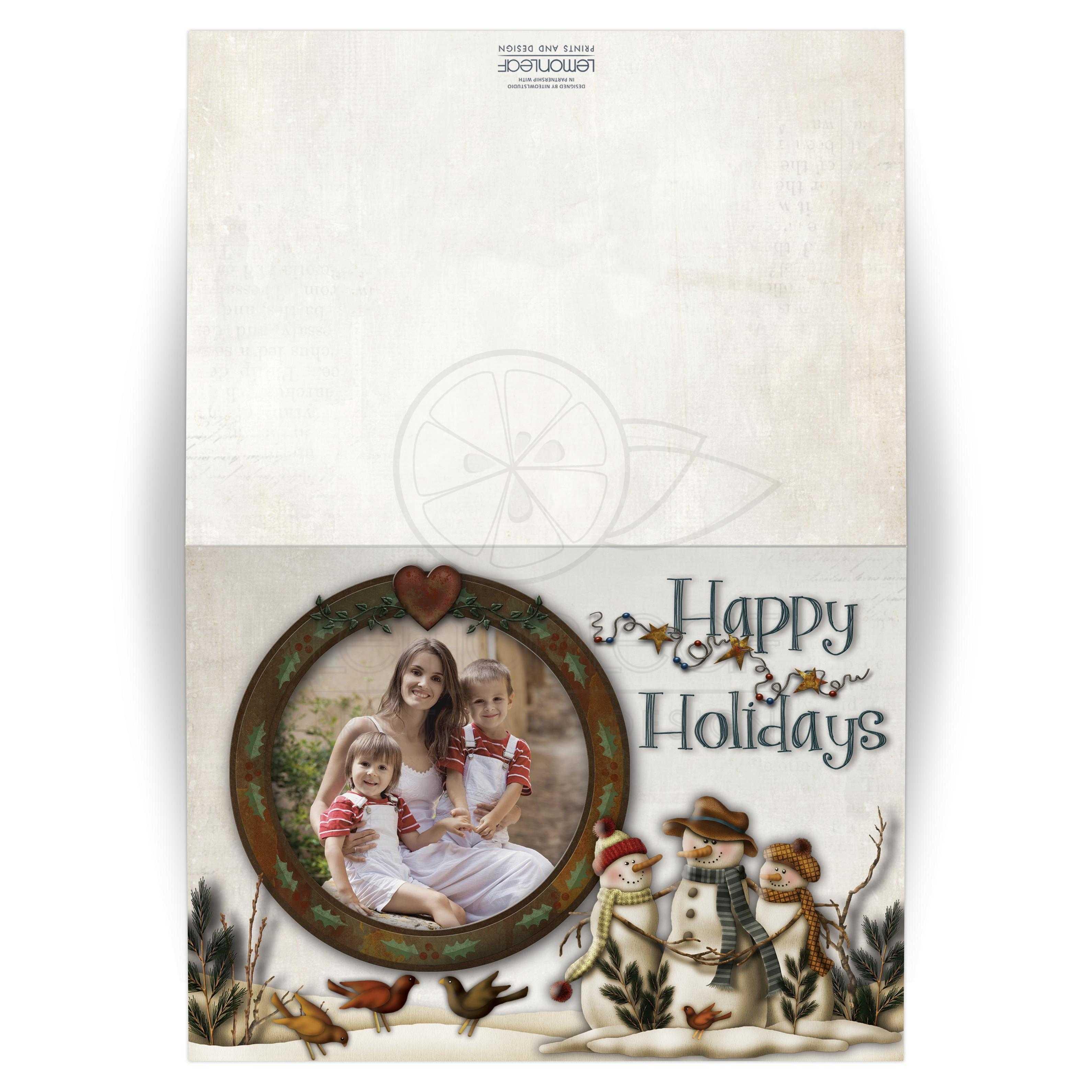 Folded 5x7 christmas or holiday card 2 personalized for Best personalized christmas cards