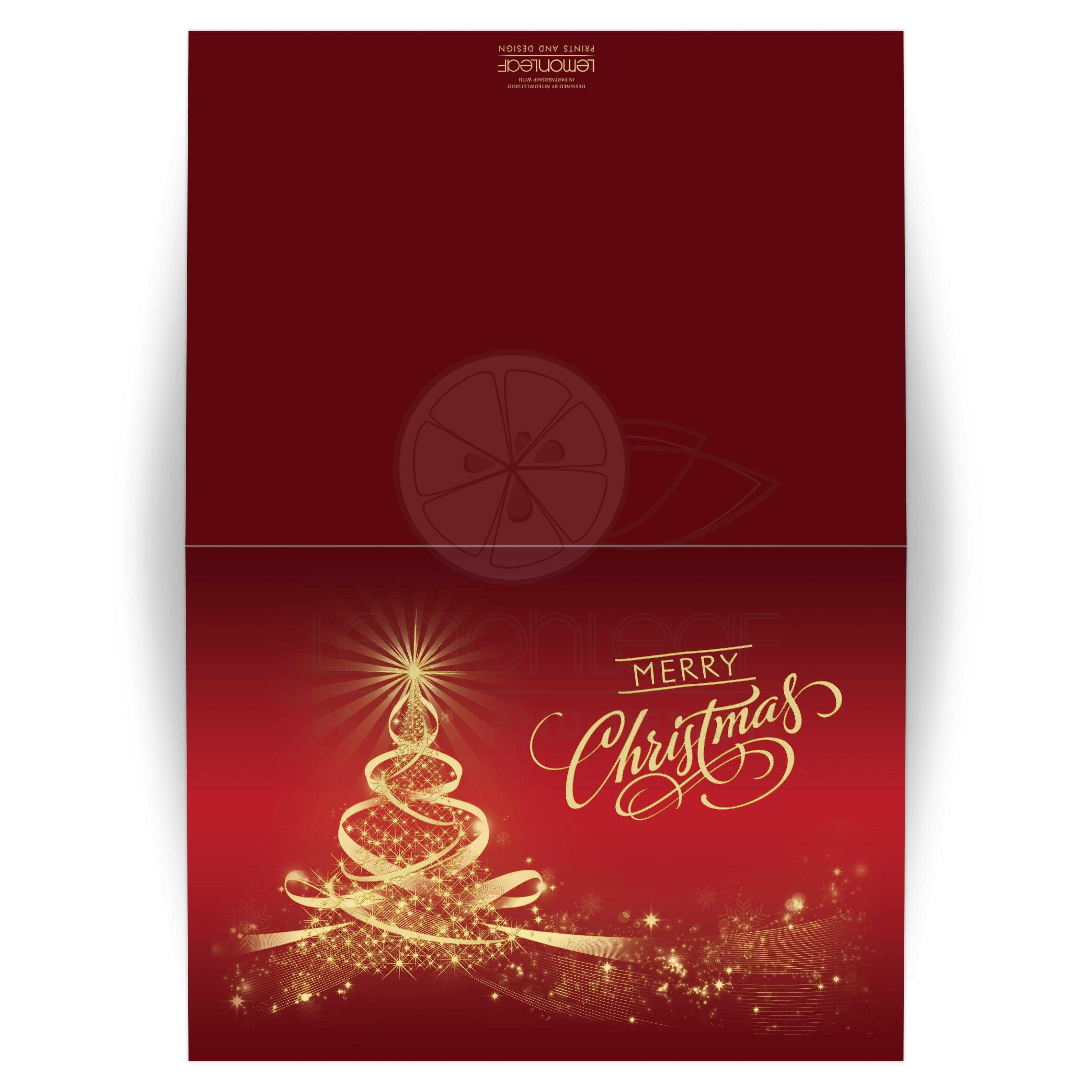 5x7 christmas or holiday card merry christmas red gold tree of lights best red and gold seasons greetings christmas card with tree of lights m4hsunfo