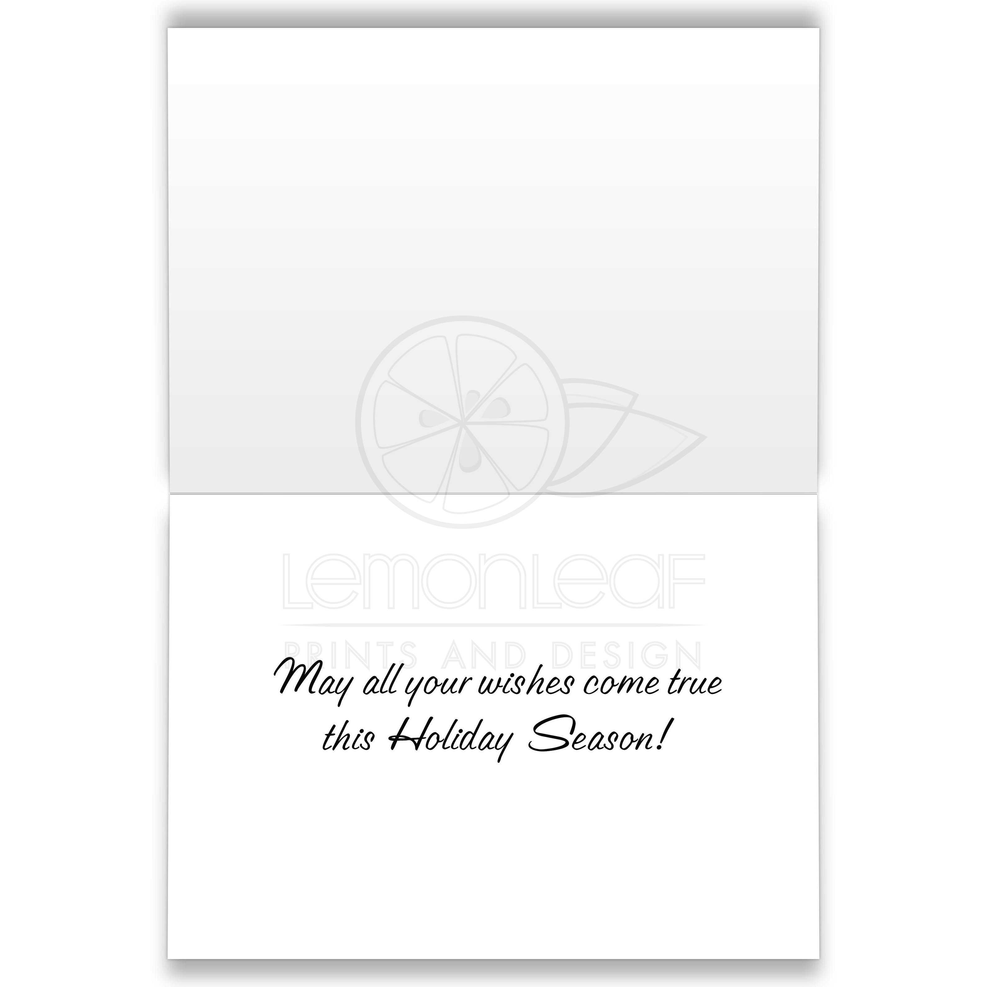 Back Of Holiday Cards