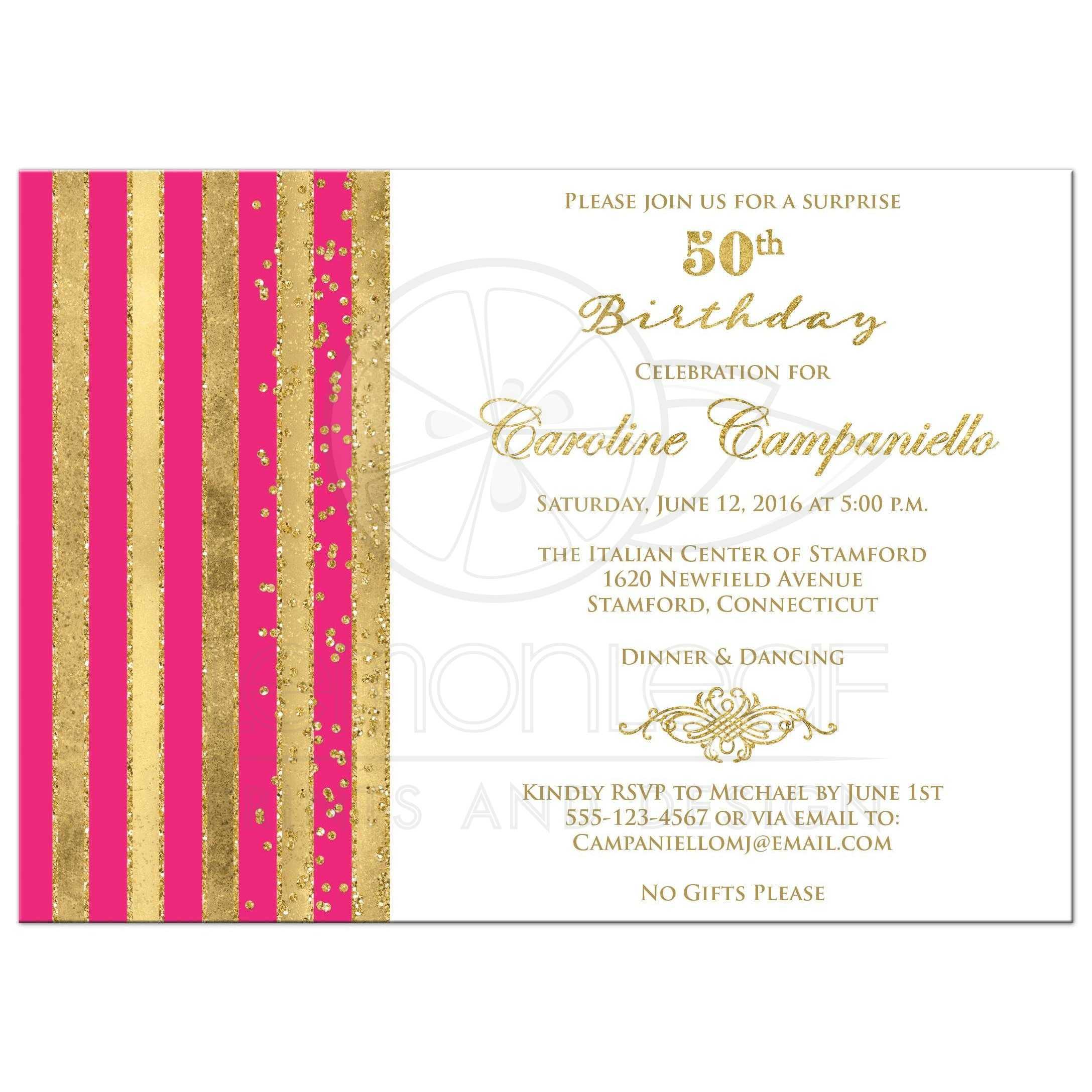 email invitation birthday