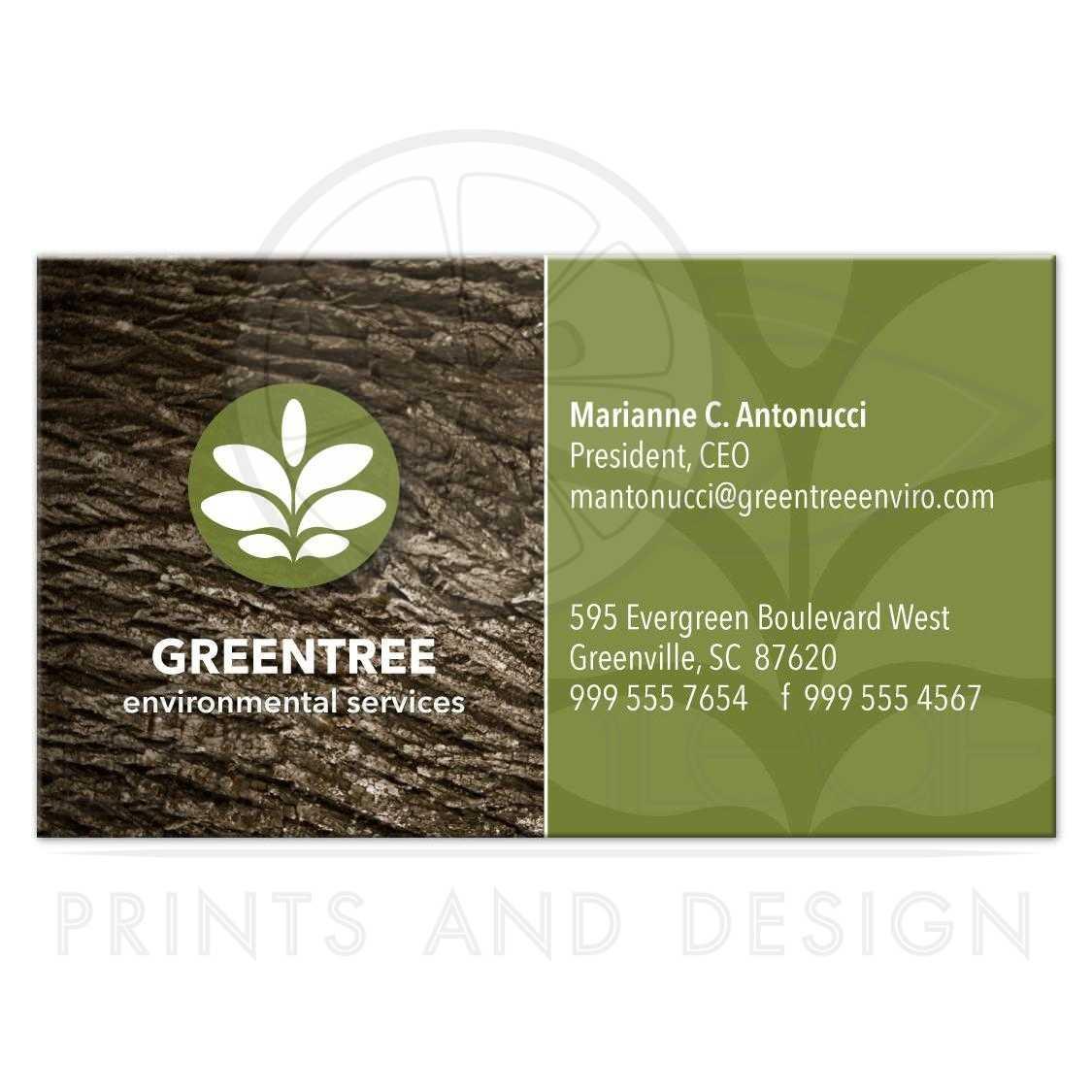 Business card tree bark green company environmental tree bark green company environmental business card colourmoves