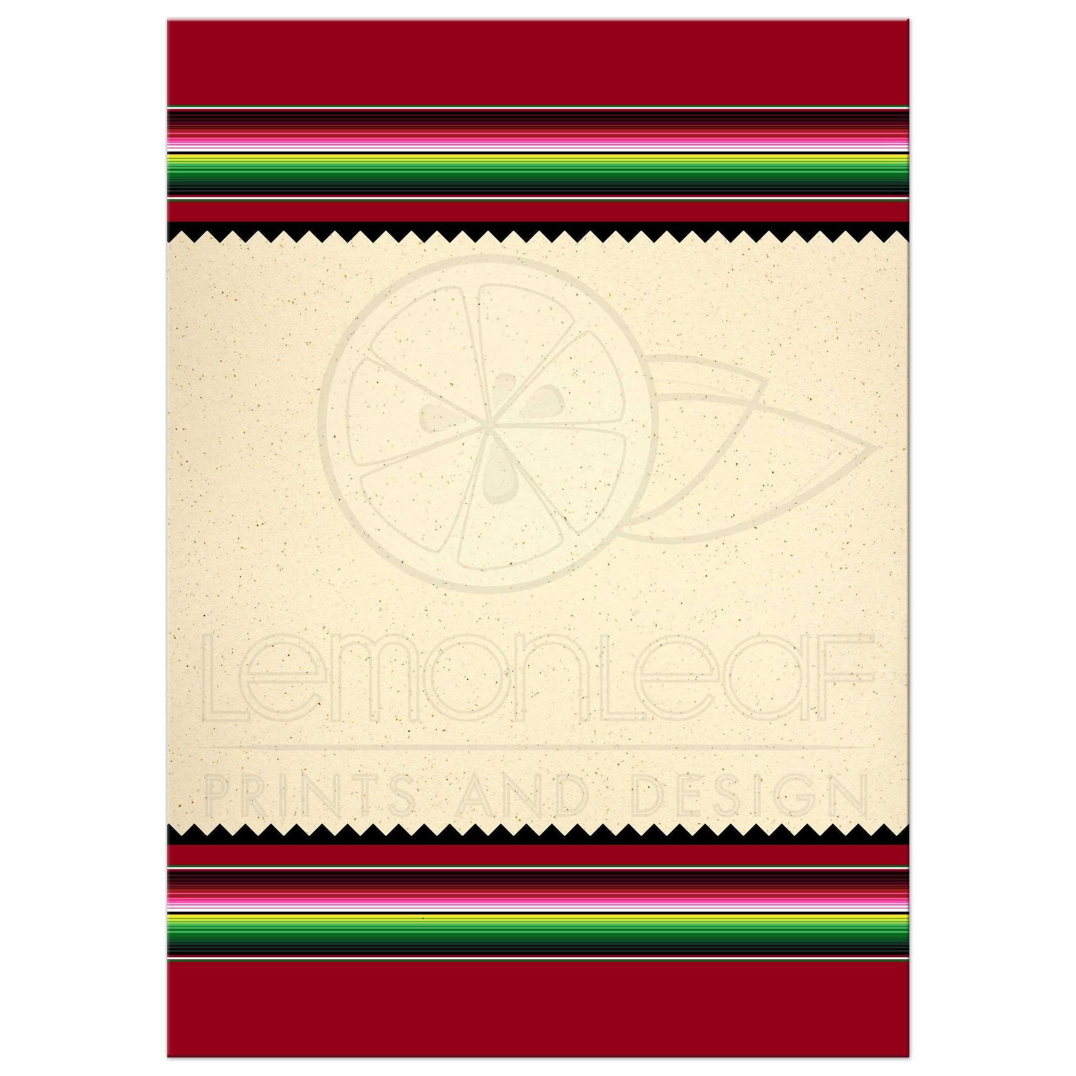 Mexican Serape Party Fiesta Invitation