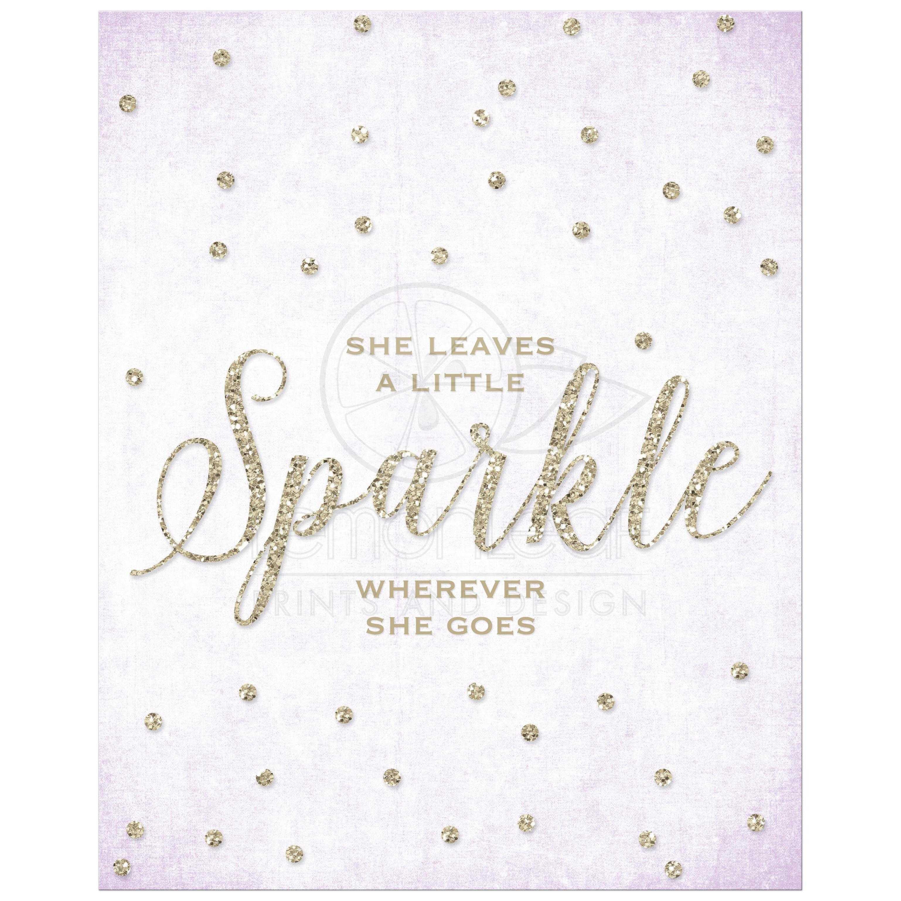 She Leaves A Little Sparkle Wherever She Goes Invitations