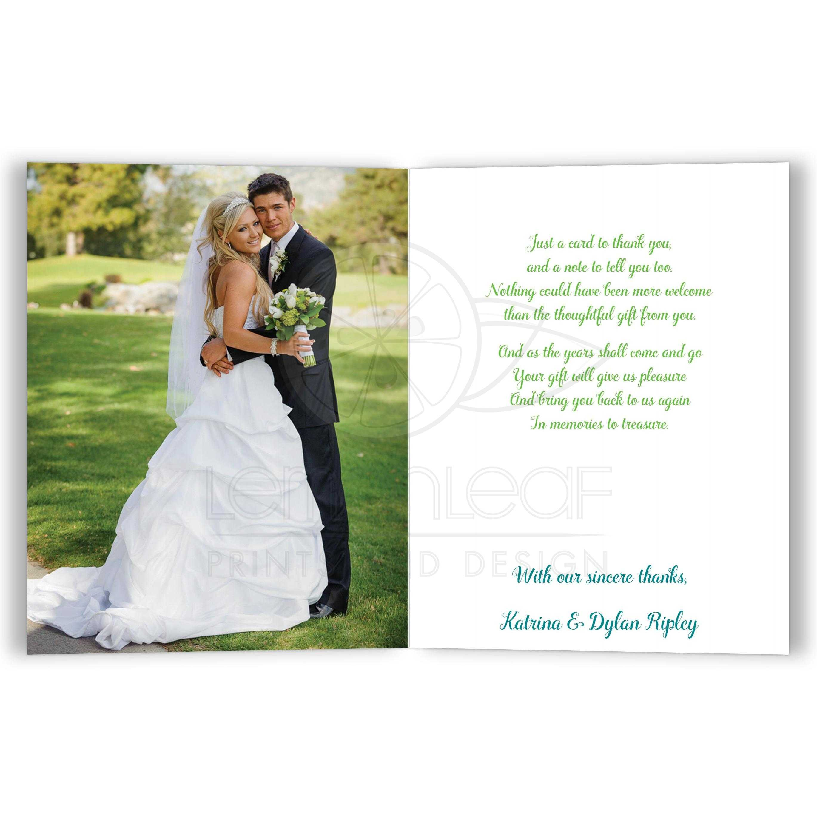Best Turquoise Blue Lime Green And White Fl Wedding Thank You Card With Photo Template