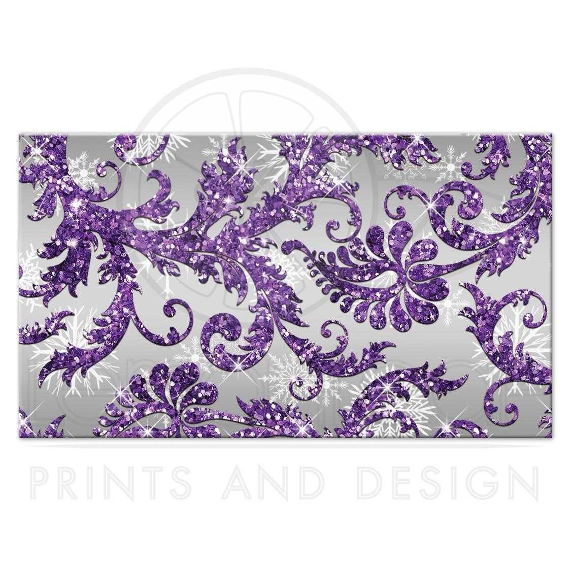 Lavender Background Wedding: Winter Wonderland Wedding Reception Card