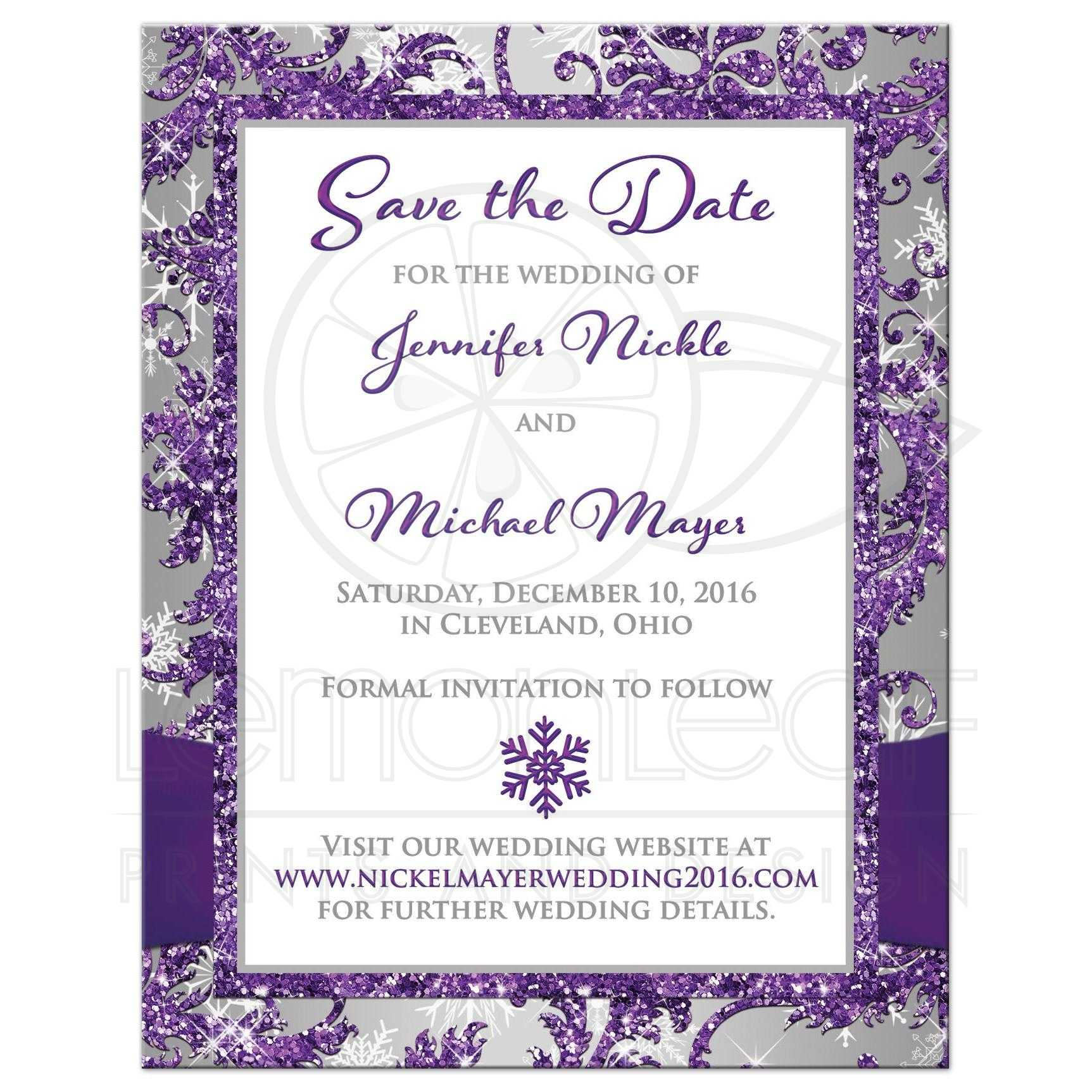 PHOTO Wedding Save The Date Card
