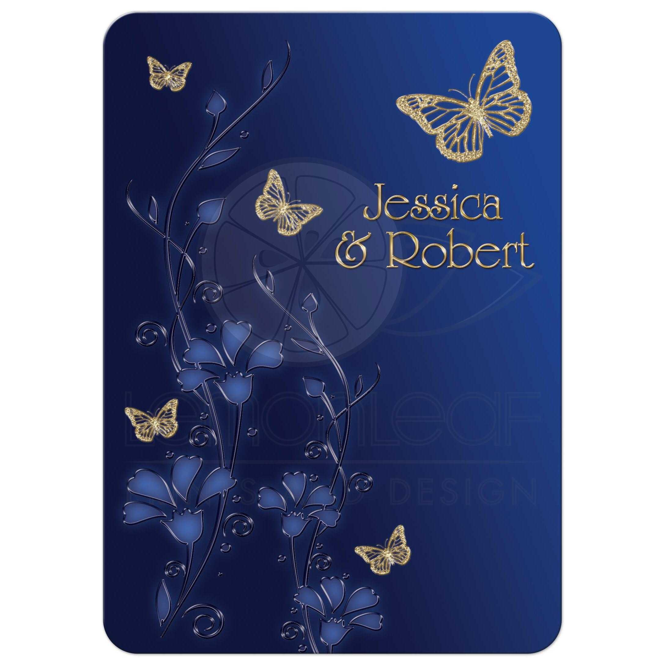 Gold And Blue Wedding Invitations: Royal Blue And Gold