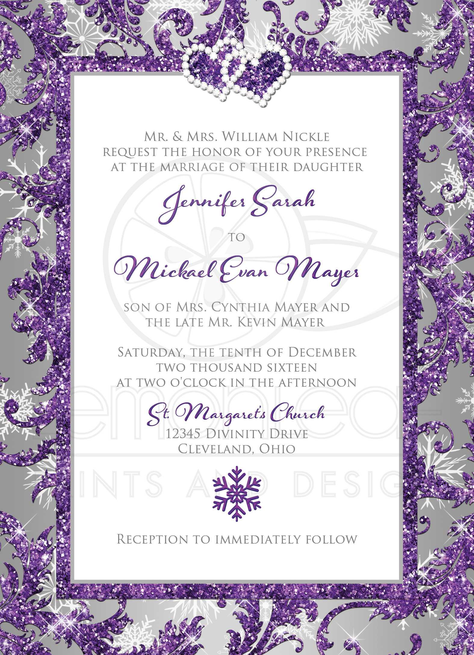 Stunning Purple Silver And White Wedding Pictures - Styles & Ideas ...