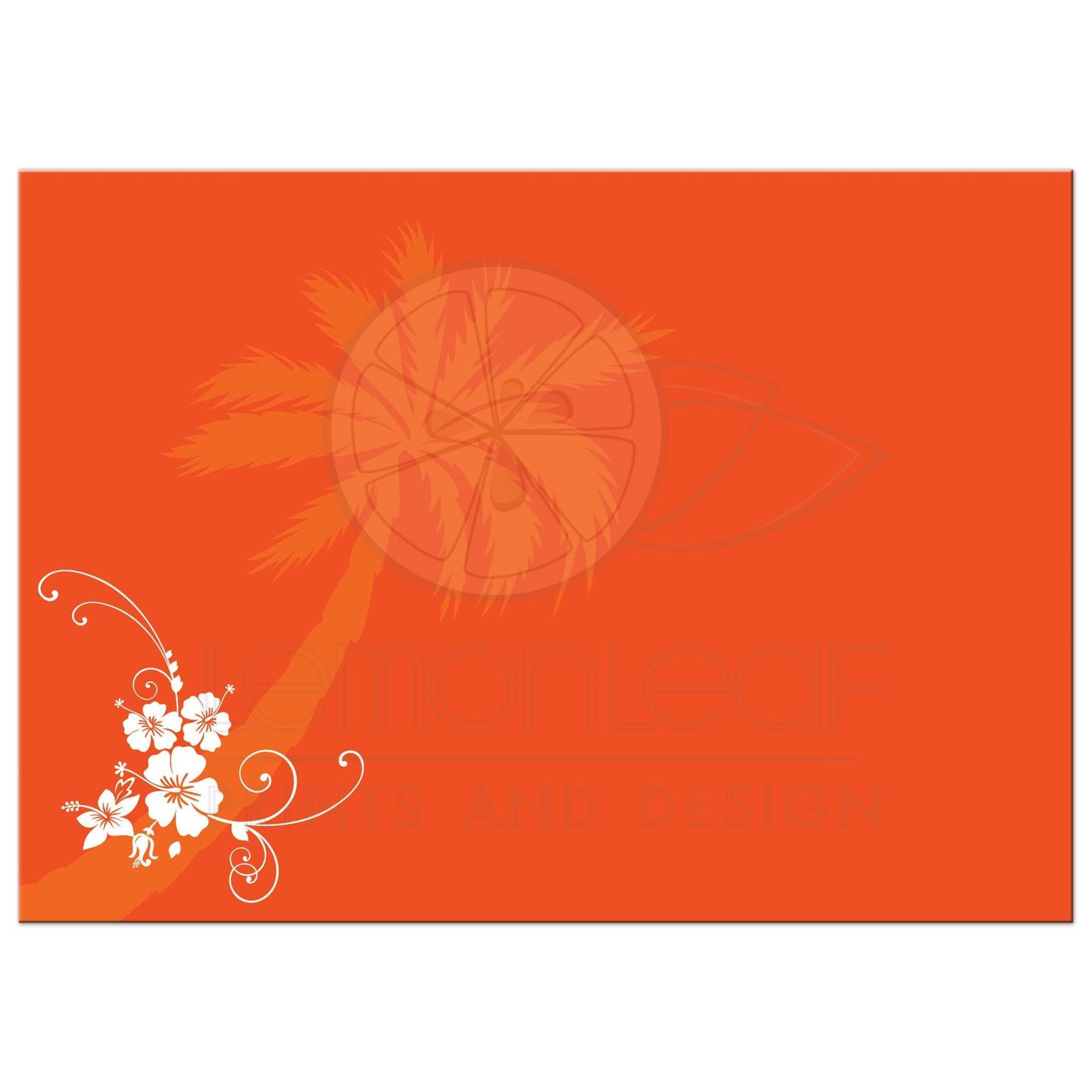 Post Wedding Reception Invitation | Blue, Orange, White Tropical ...