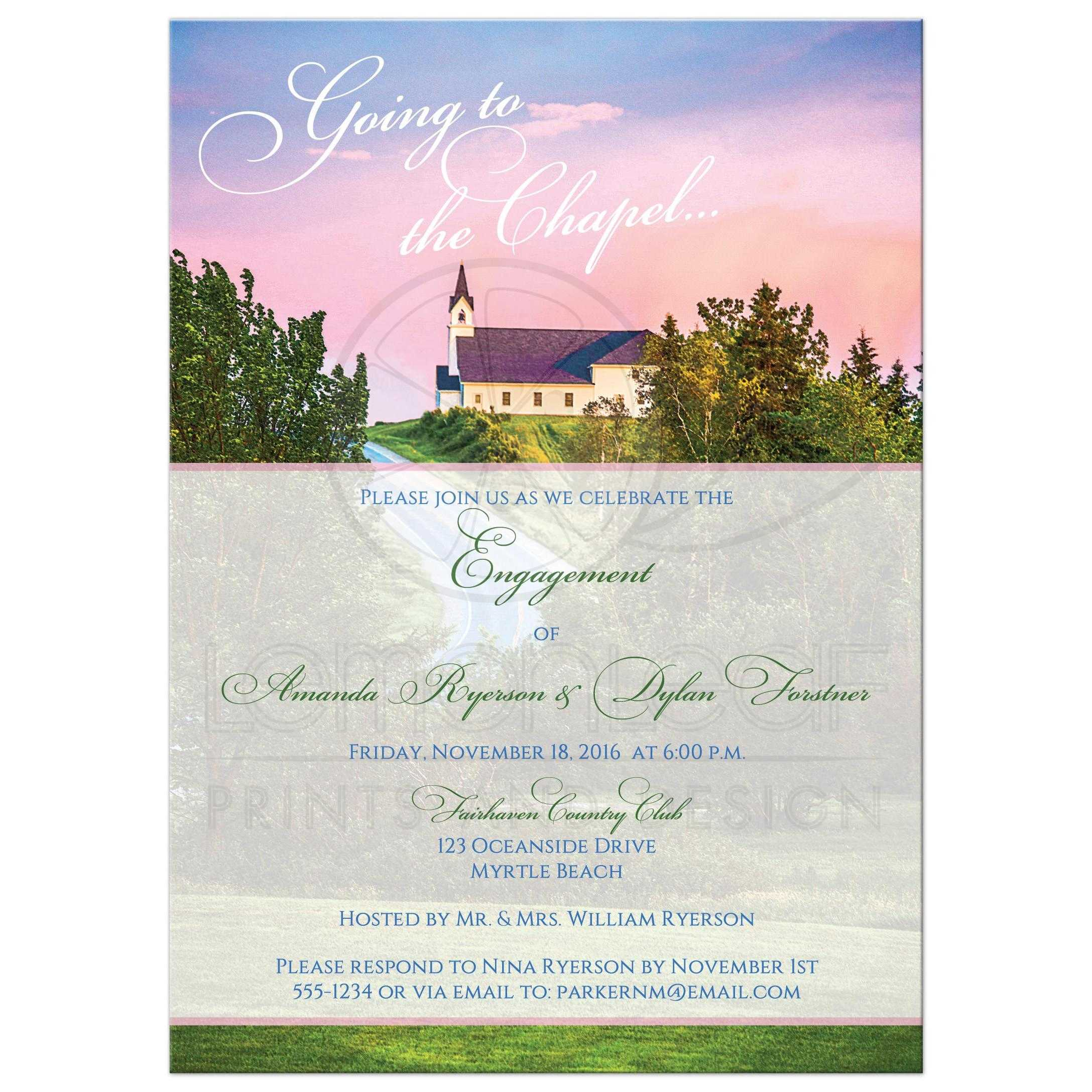 Engagement Party Invitation | Going to the Chapel