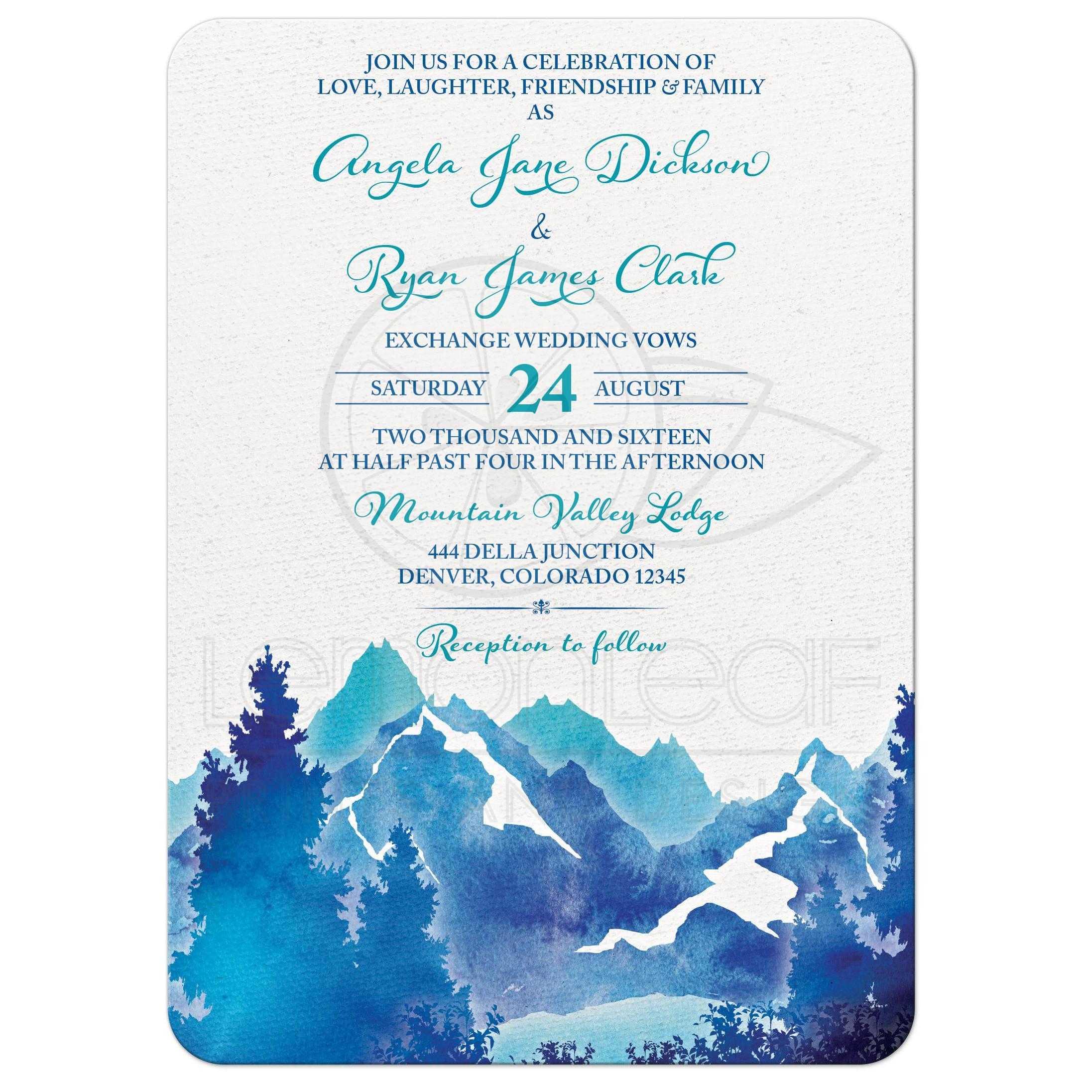 Lovely Mountain themed Wedding Wedding
