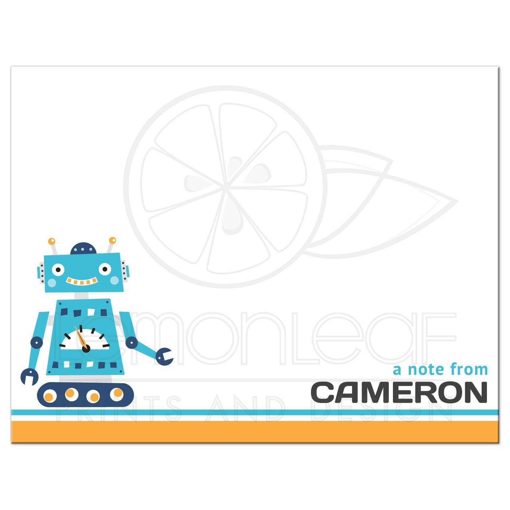 Flat Thank you Notecard with name