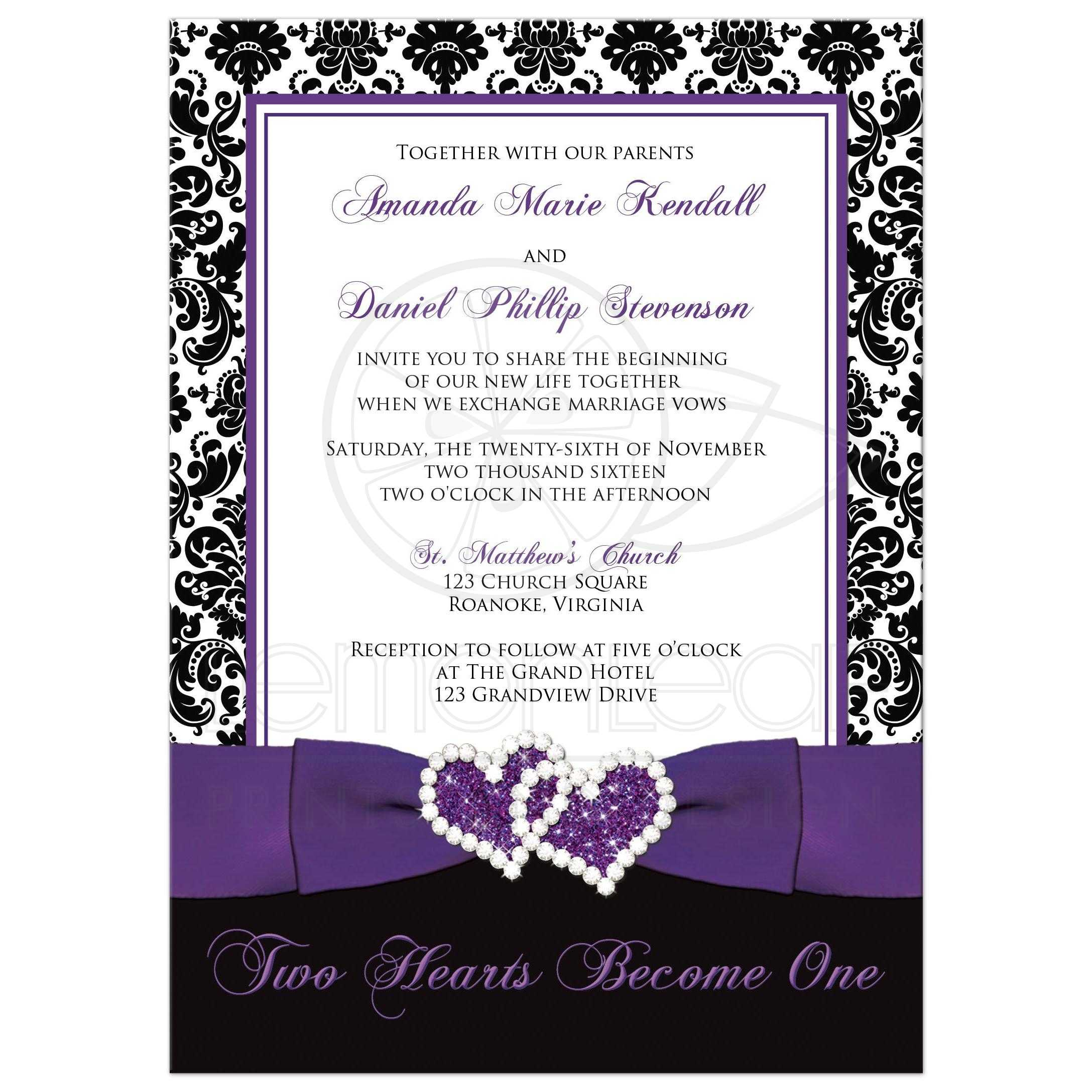 Wedding Invitation - Optional PHOTO Template | Black and White ...