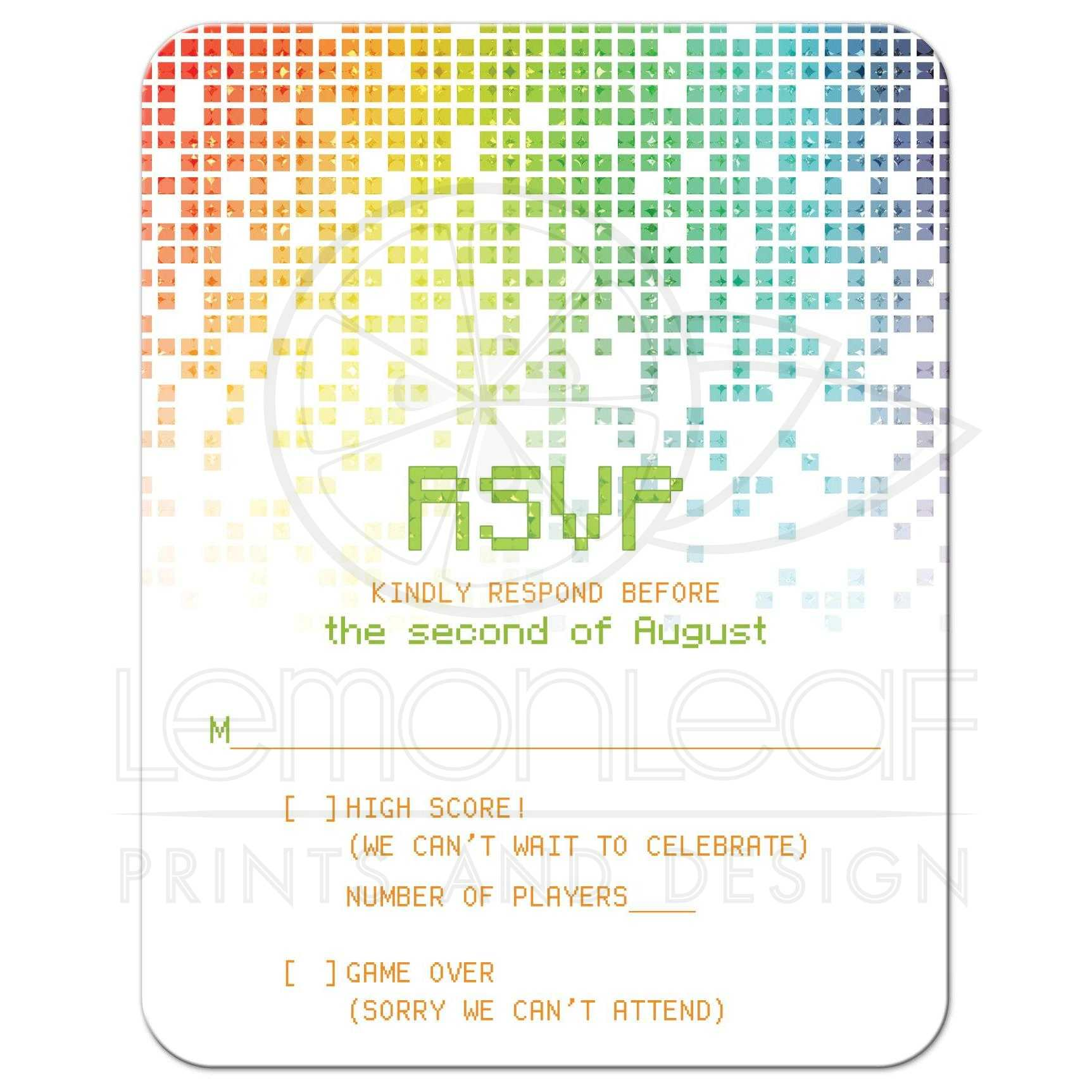 size of rsvp card thevillas co