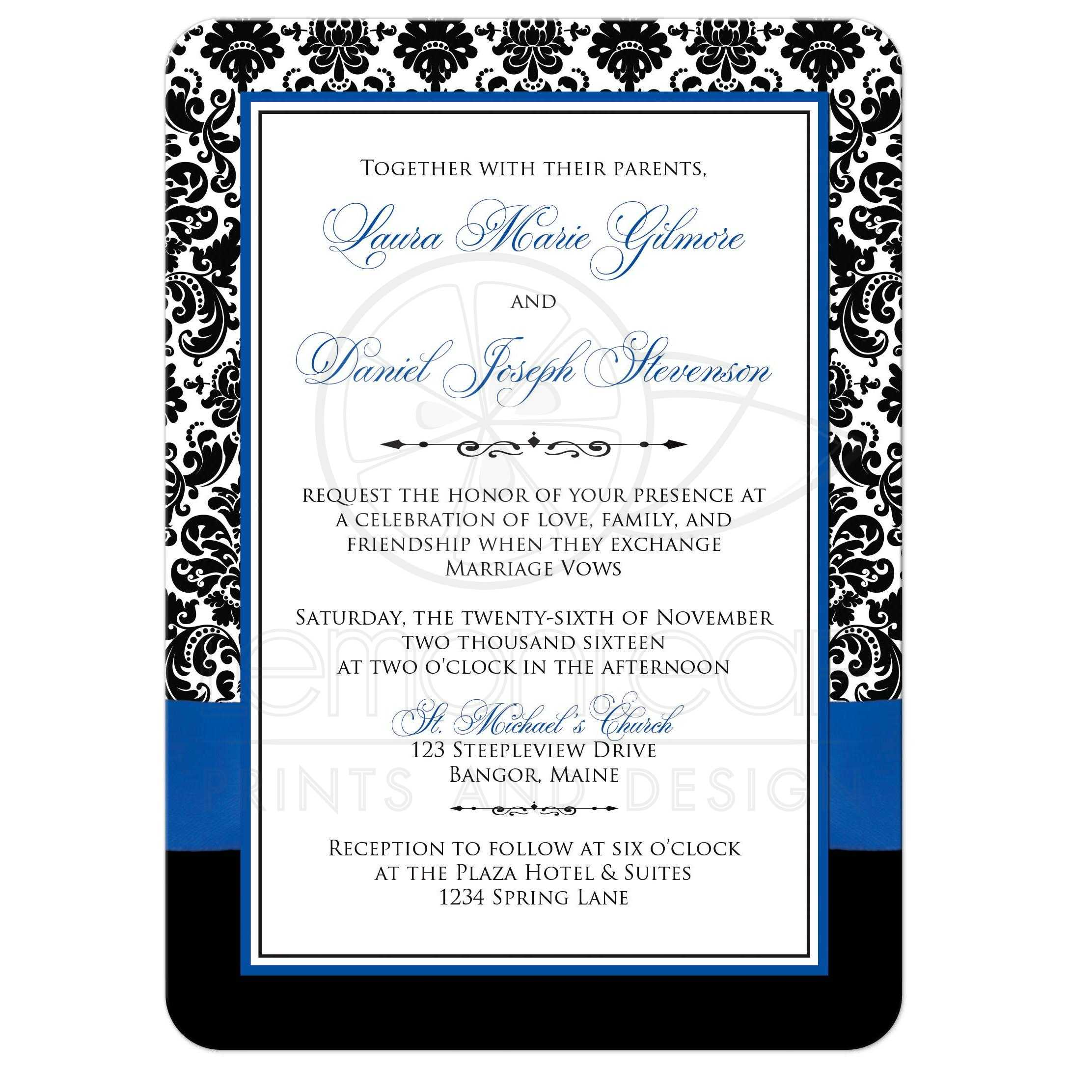 Wedding Invitation Postcard with good invitation layout