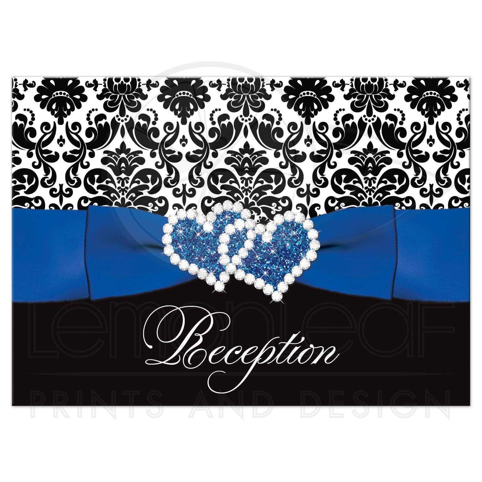 Wedding Reception Enclosure Card | Royal Blue, White ...