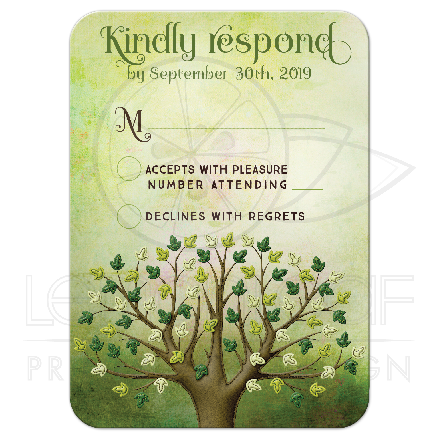 Tree Of Life Invitation Rsvp Celtic Life By: Spring Tree Of Life RSVP Reply Card