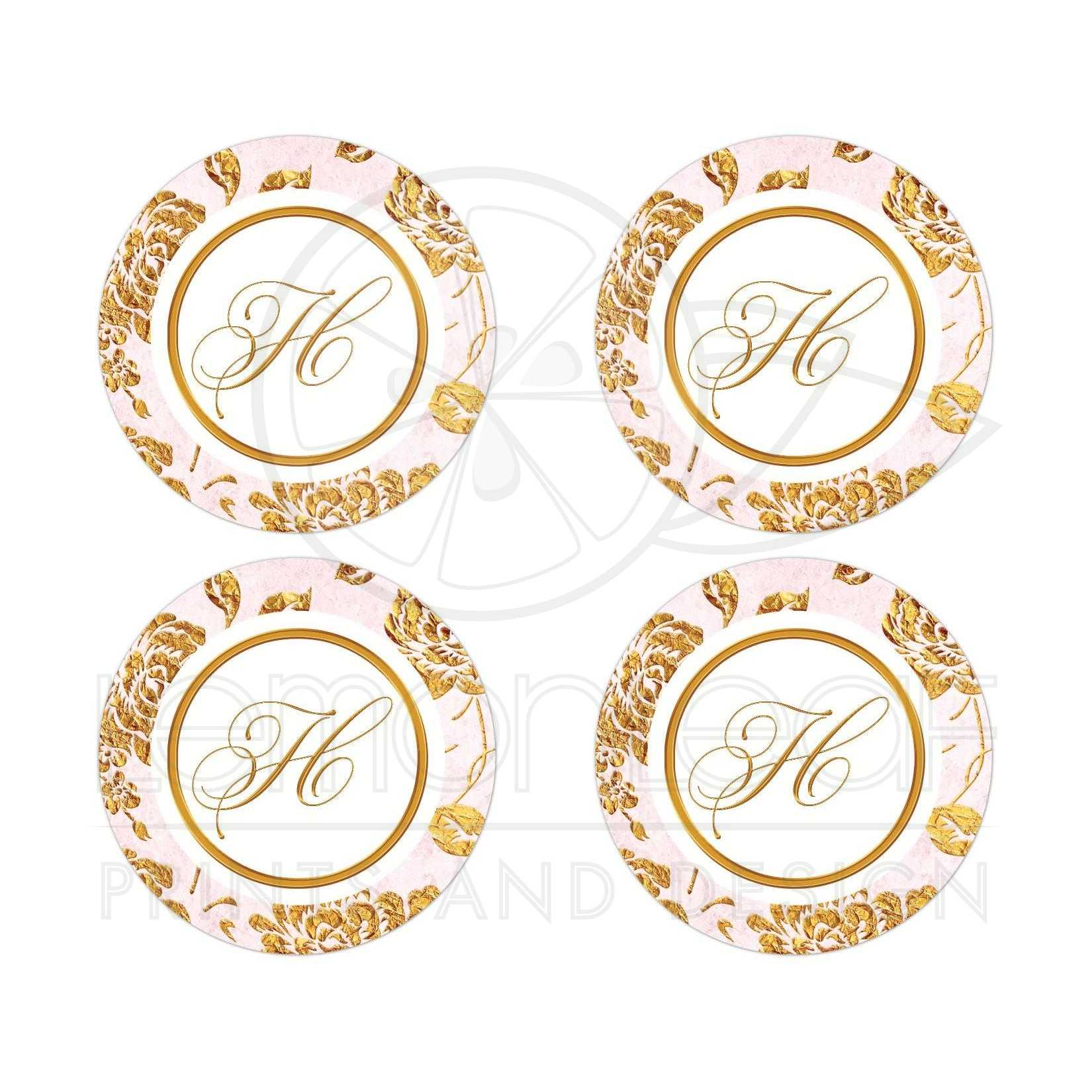 Vintage Blush Pink Ivory And Gold Roses Or Peony Fl Wedding Stickers Envelope Seals