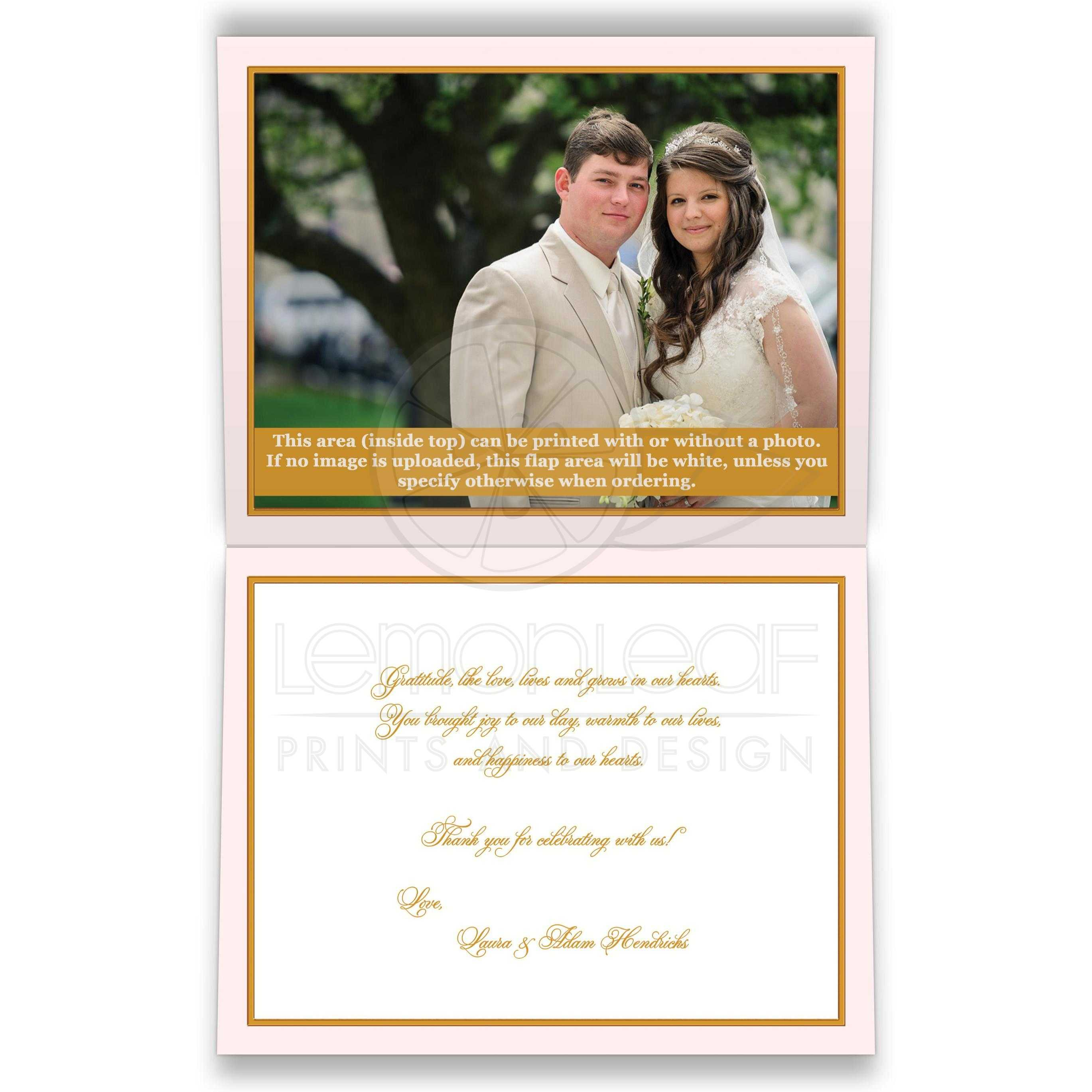 Personalized Blush Pink Ivory And Gold Vintage Fl Wedding Thank You Card With Monogram