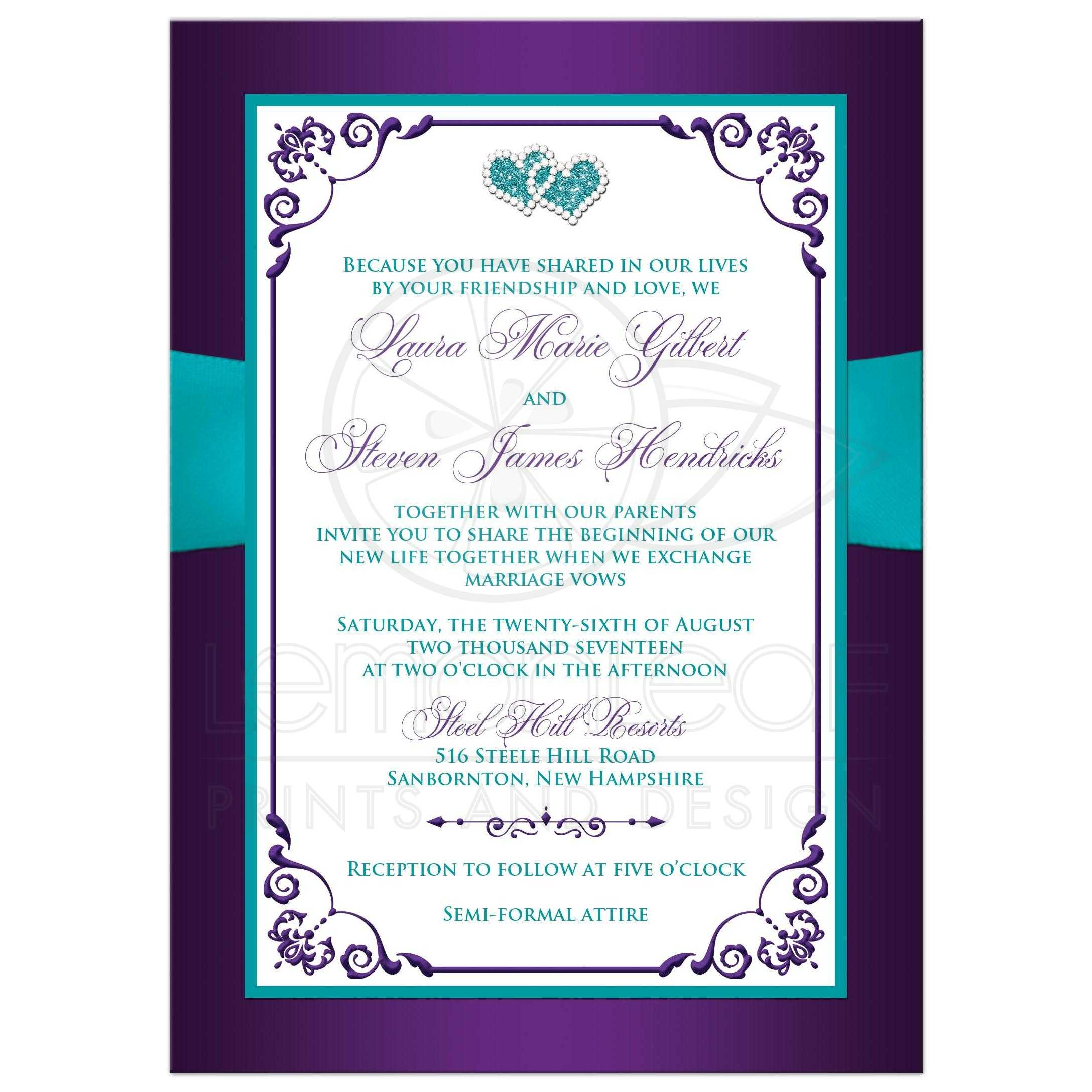 ... Turquoise Blue And White Floral Wedding Invitations With Aqua Ribbon,  Bow, ...