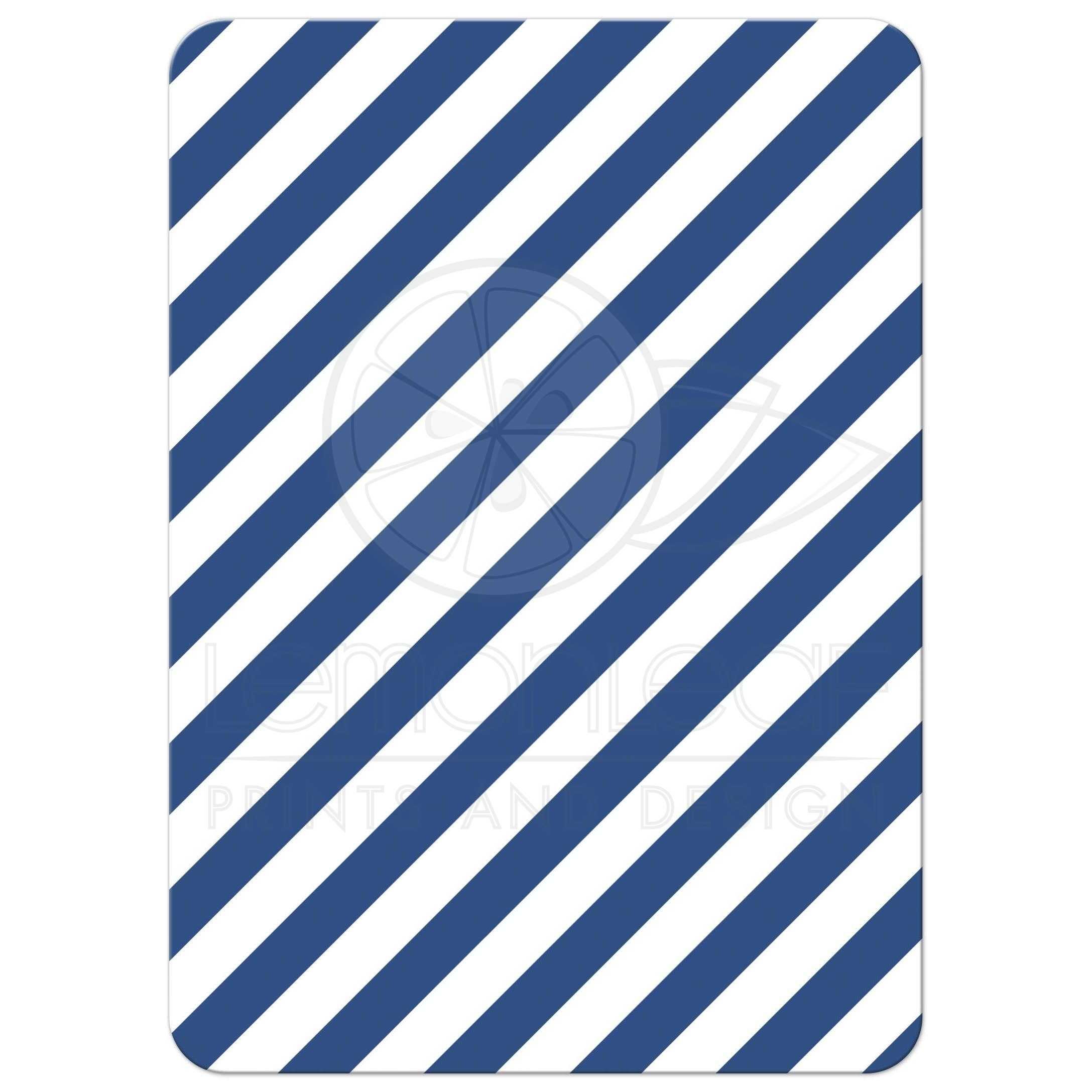 Nautical baby shower thank you card with anchor and rope border, flat note card | Classy and ...