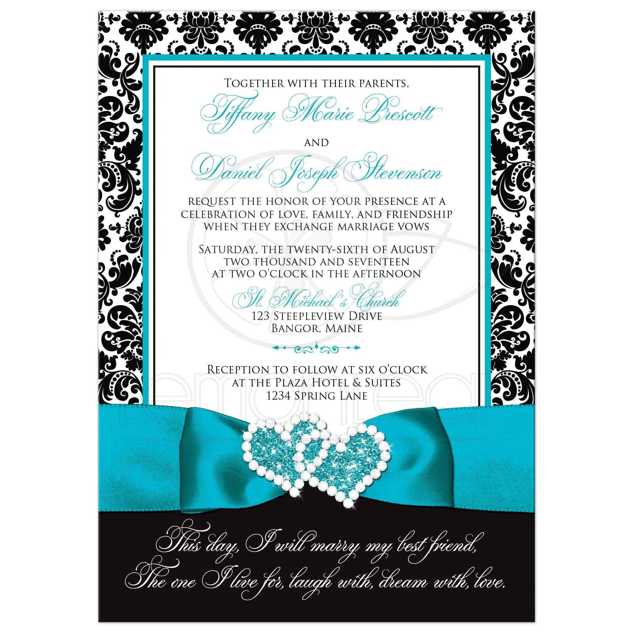 wedding invitations black - Boat.jeremyeaton.co