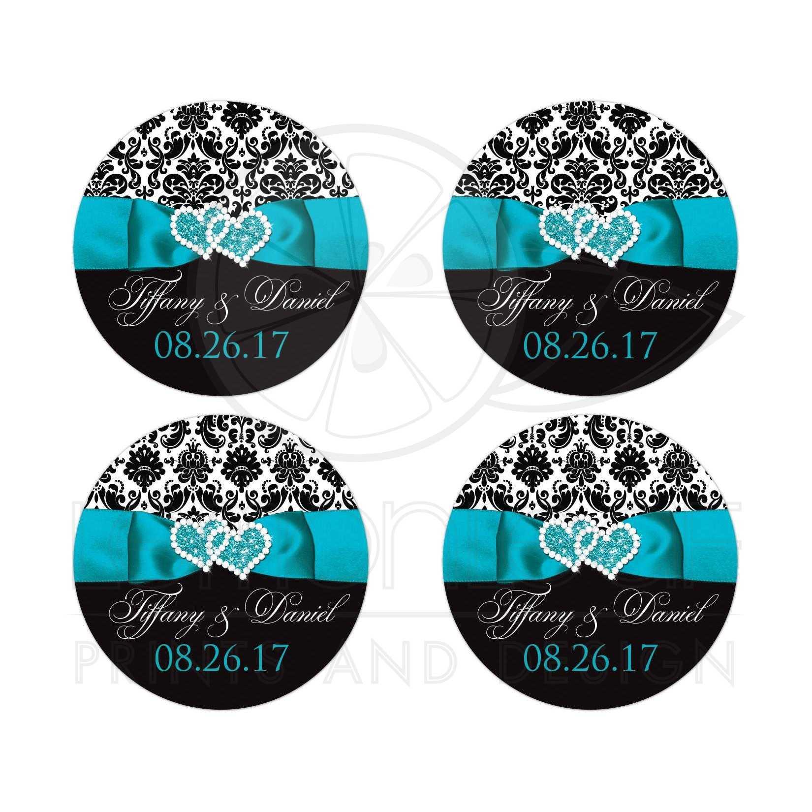 Personalized Wedding Favor Sticker - 2\