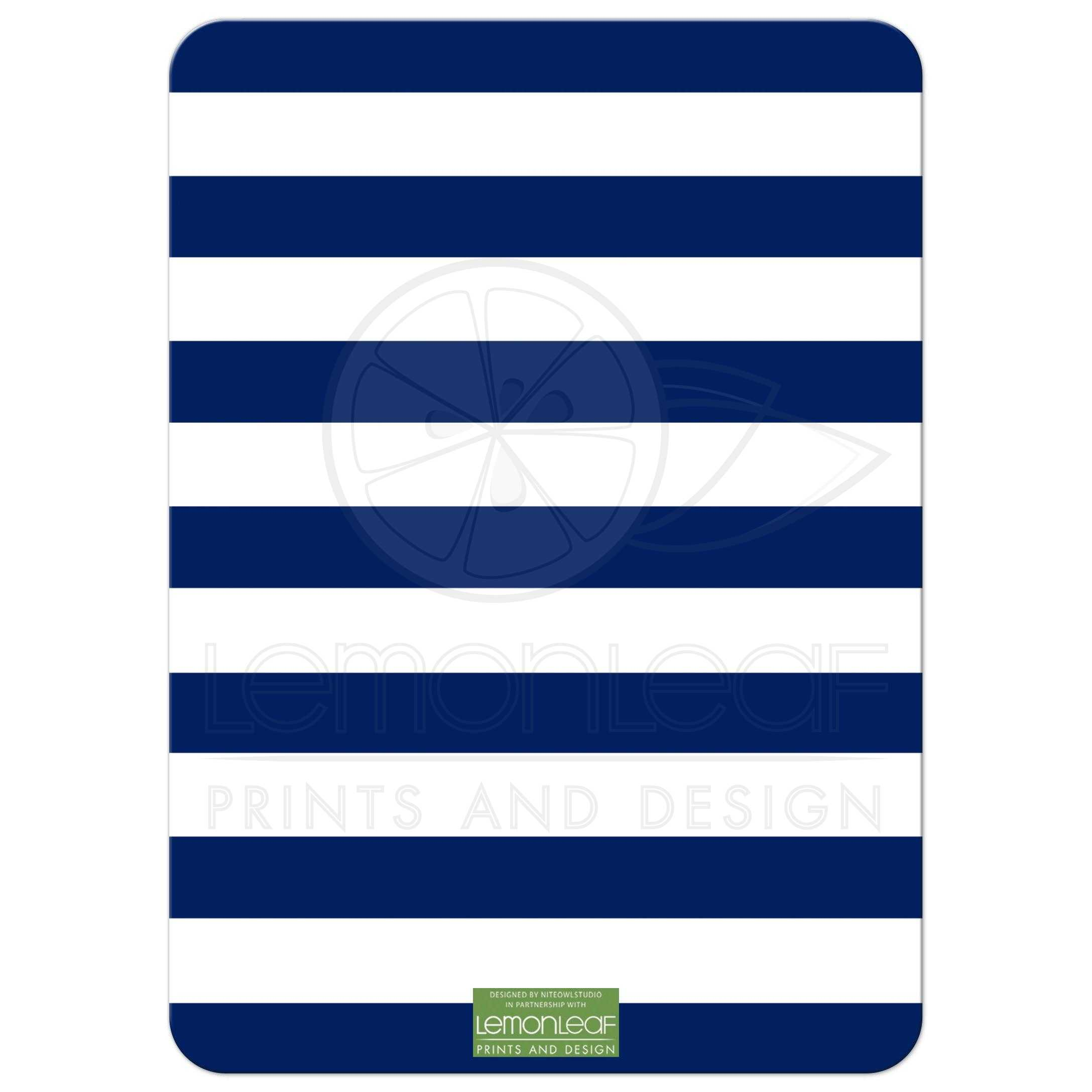 Bridal Shower Invitation Navy Green White Stripes