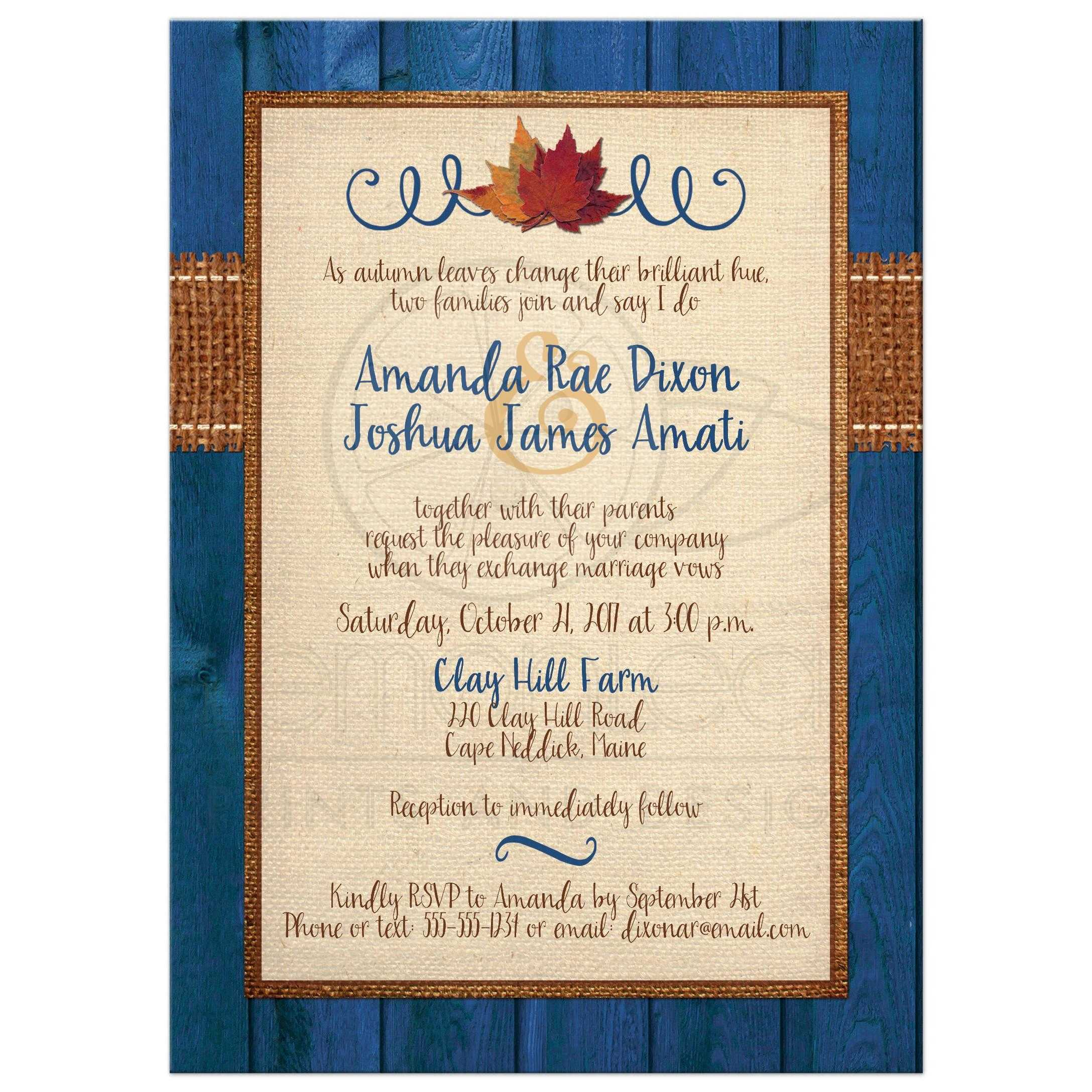 Photo Template Wedding Invitation